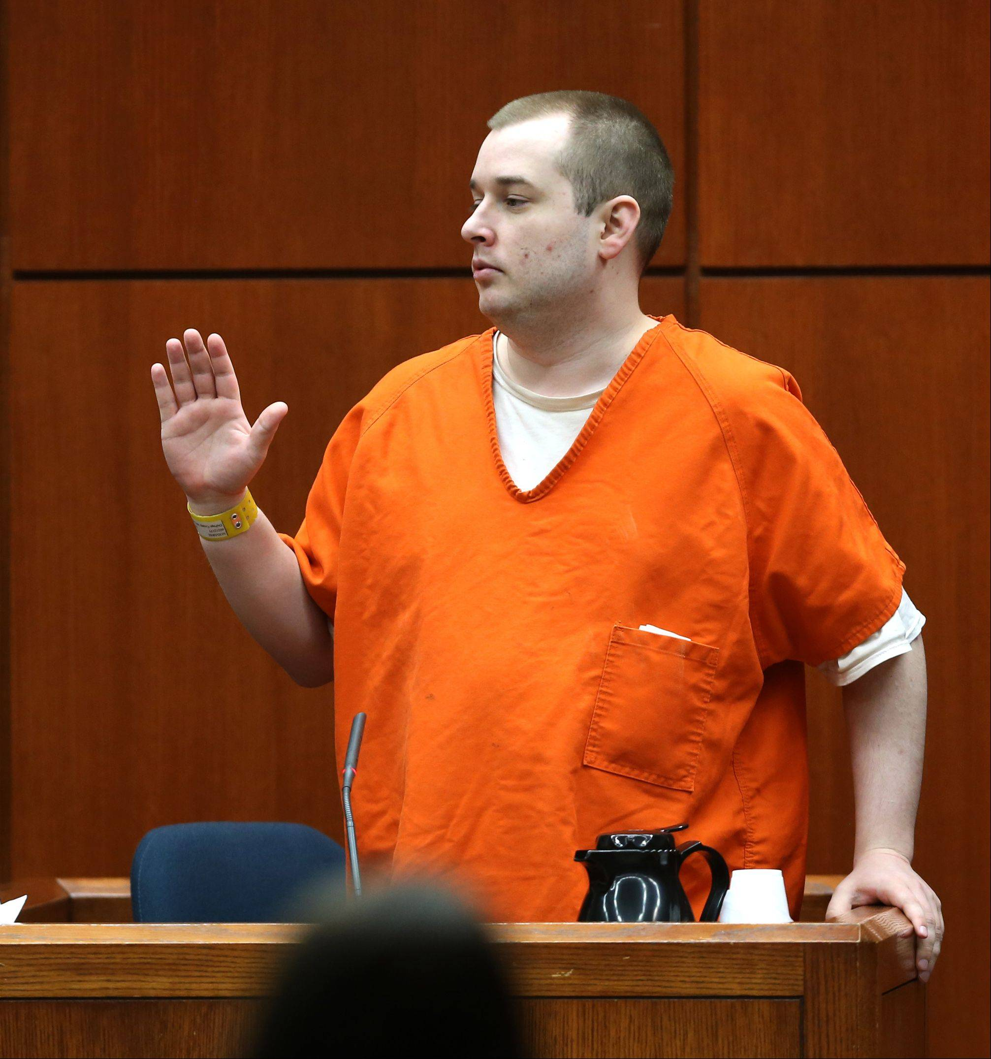 Jacob Nodarse is sworn in to testify Thursday during the Johnny Borizov murder trial.