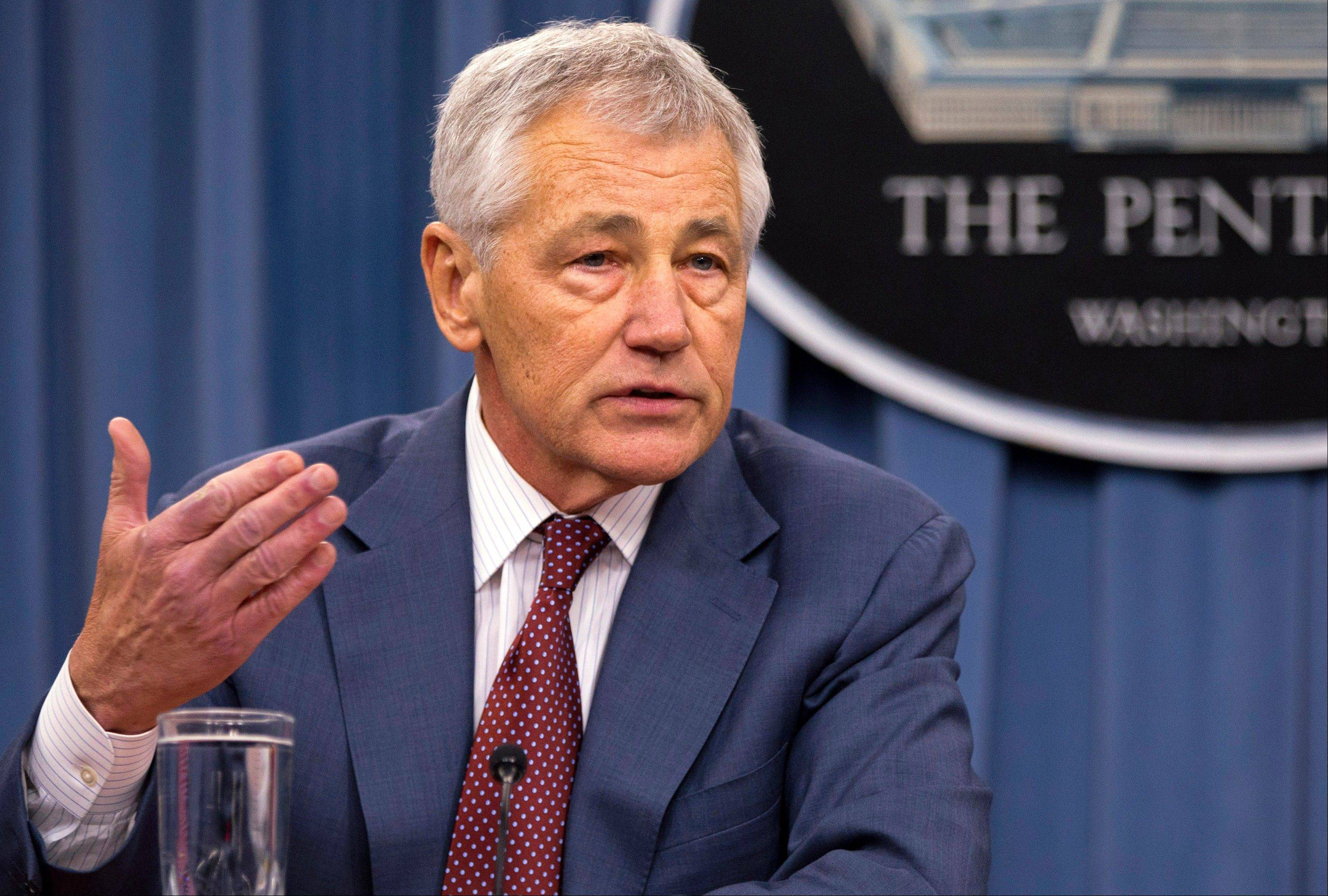 "Defense Secretary Chuck Hagel said Thursday that U.S. intelligence has concluded ""with some degree of varying confidence,"" that the Syrian government has used sarin gas as a weapon in its 2-year-old civil war,"