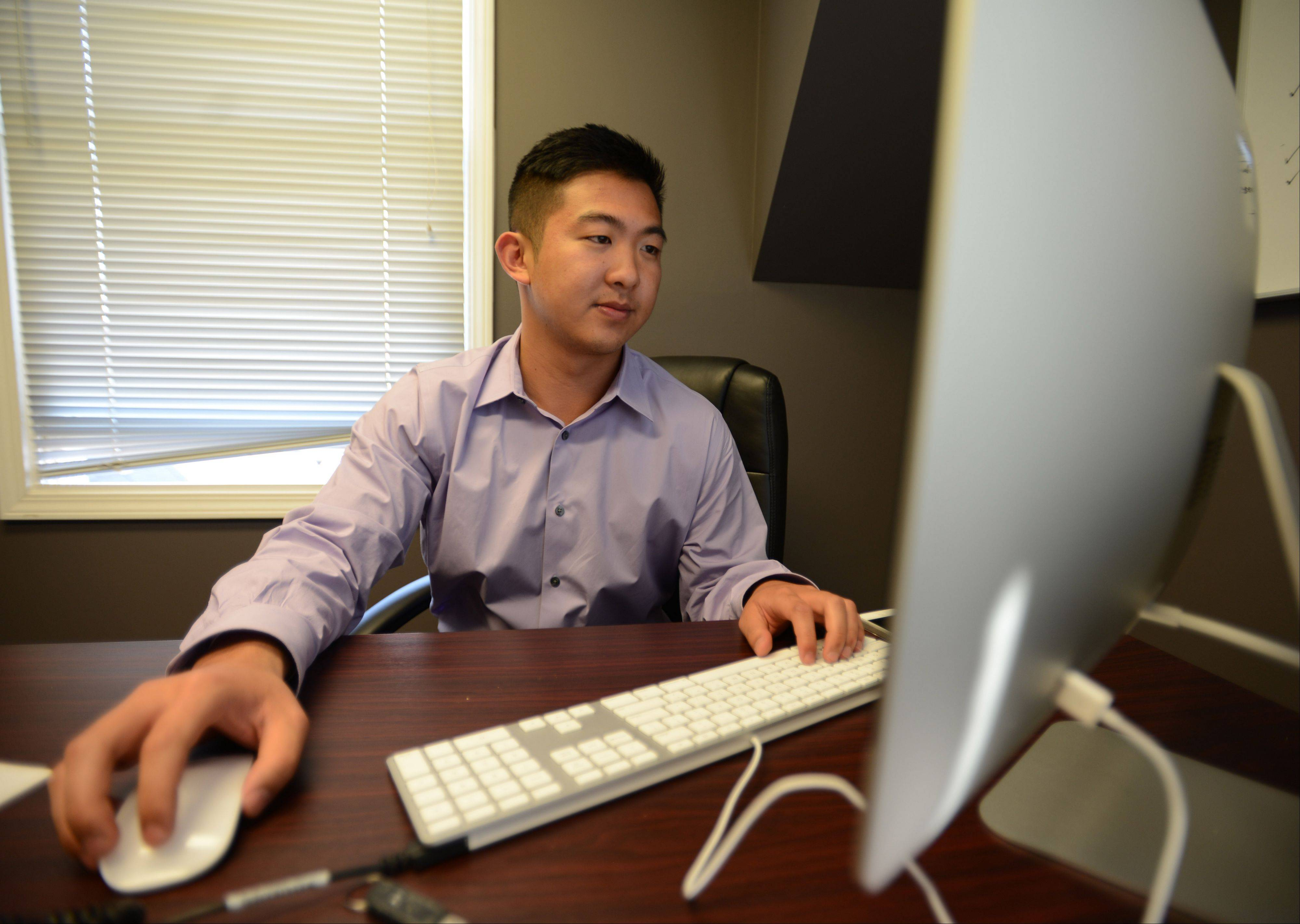 Wilbur You, 22, recently launched a new website for his business, Youtech & Associates in Naperville. The business has two employees in addition to Wilbur, who will be graduating in May from Northern Illinois University with a computer science degree.