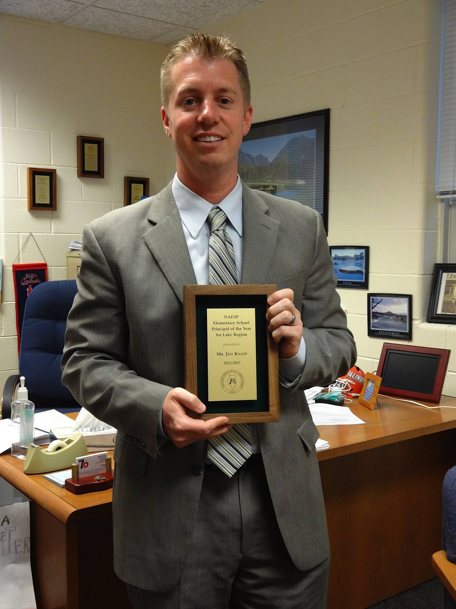 Rockland Principal Jeff Knapp recently was named Principal of the Year.
