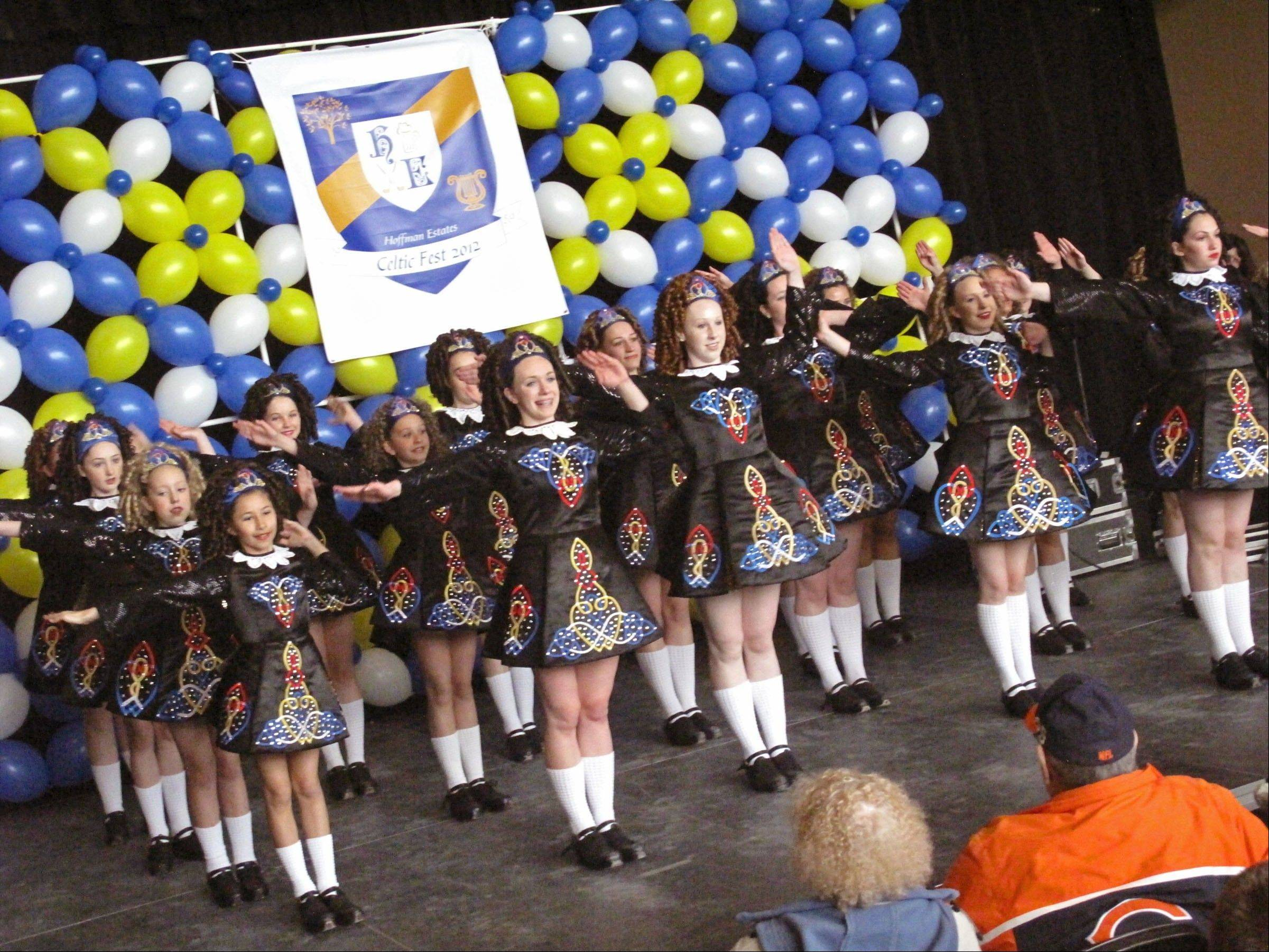 Irish dancers entertain hundreds of spectators at last year's inaugural Celtic Fest event at the Sears Centre Arena.