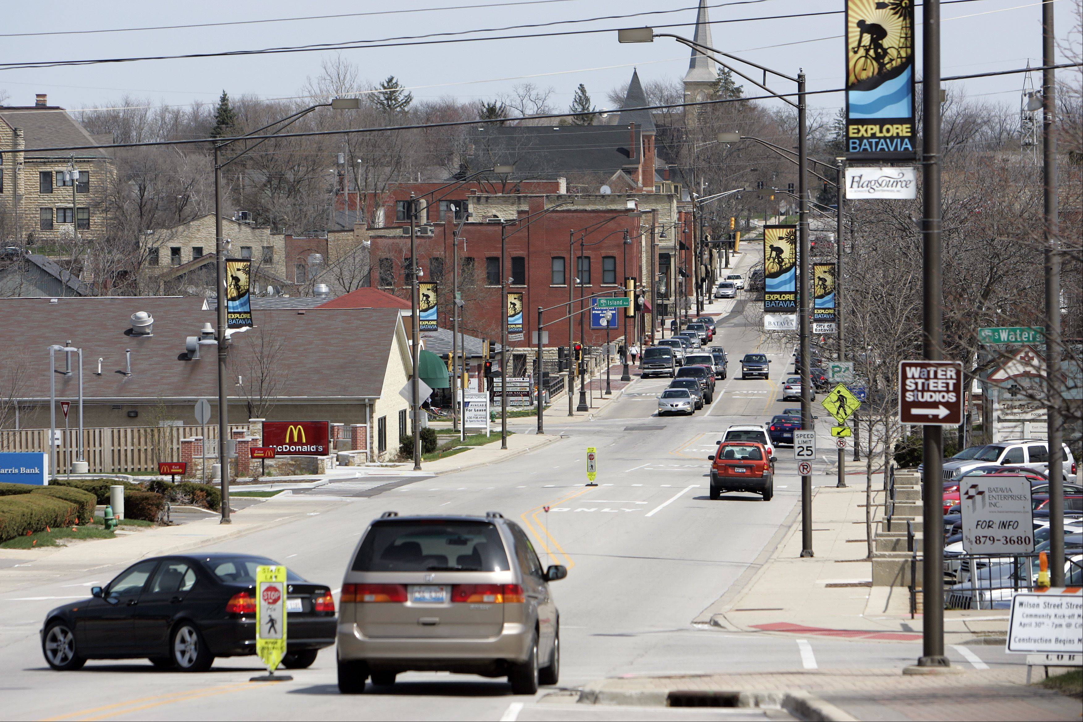 A $4.4 million renovation along Wilson Streeet in Batavia, shown looking east from Route 31, gets underway Monday.