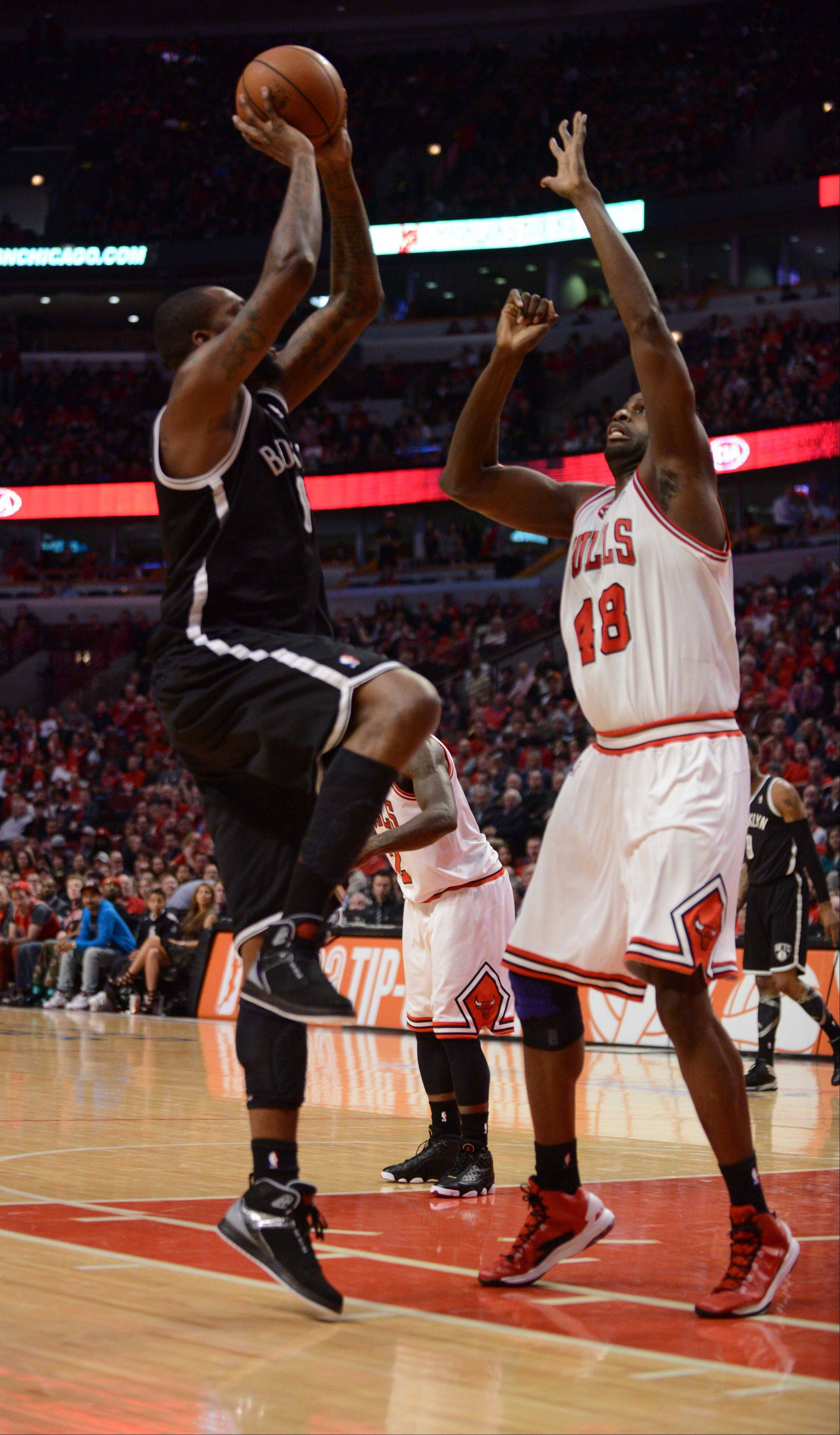 Paul Michna/pmichna@dailyherald.com Game 3 of the NBA Eastern Conference first-round playoffs between the Chicago Bulls and Brooklyn Nets at 7 p.m. Thursday at the United Center, Chicago.