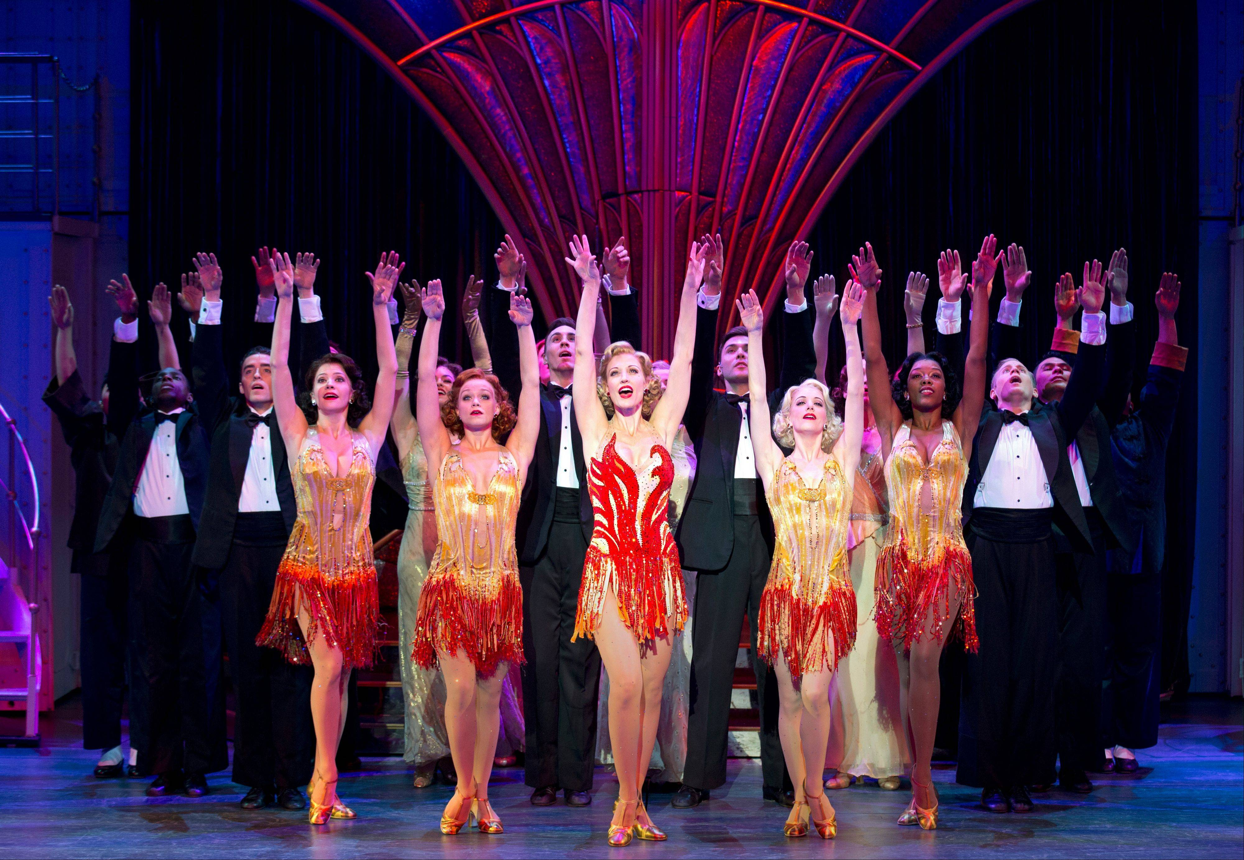 "Reno Sweeney (Rachel York) preaches her own brand of redemption in the big Act II production number ""Blow, Gabriel, Blow"" in the Roundabout Theatre Company's national tour of ""Anything Goes"" now at the Cadillac Palace Theatre in Chicago through Sunday, May 5."