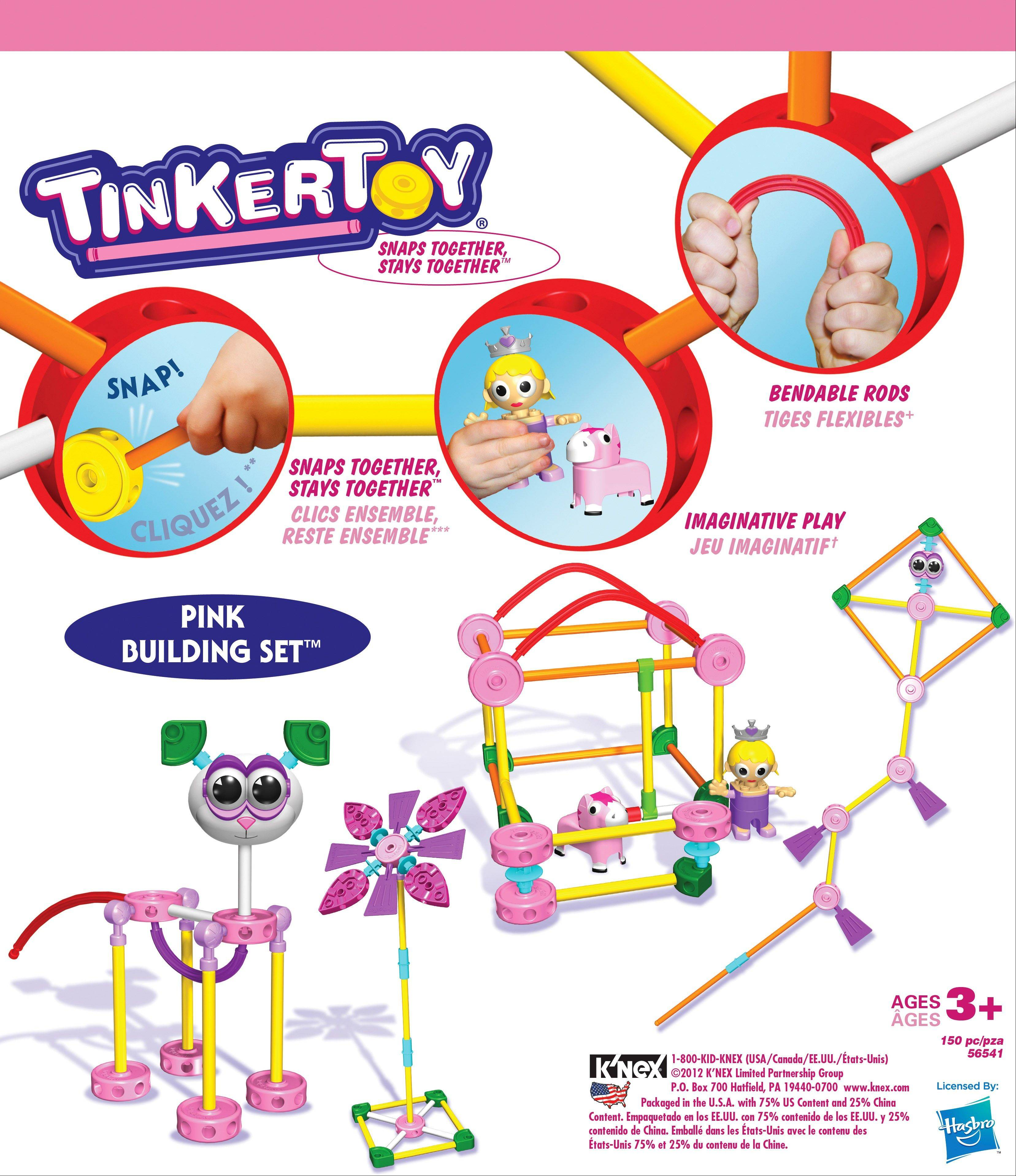 Retro toys like Tinkertoys have seen a resurgence and are now made of high density plastic, with pink versions just for girl builders (www.knex.com).