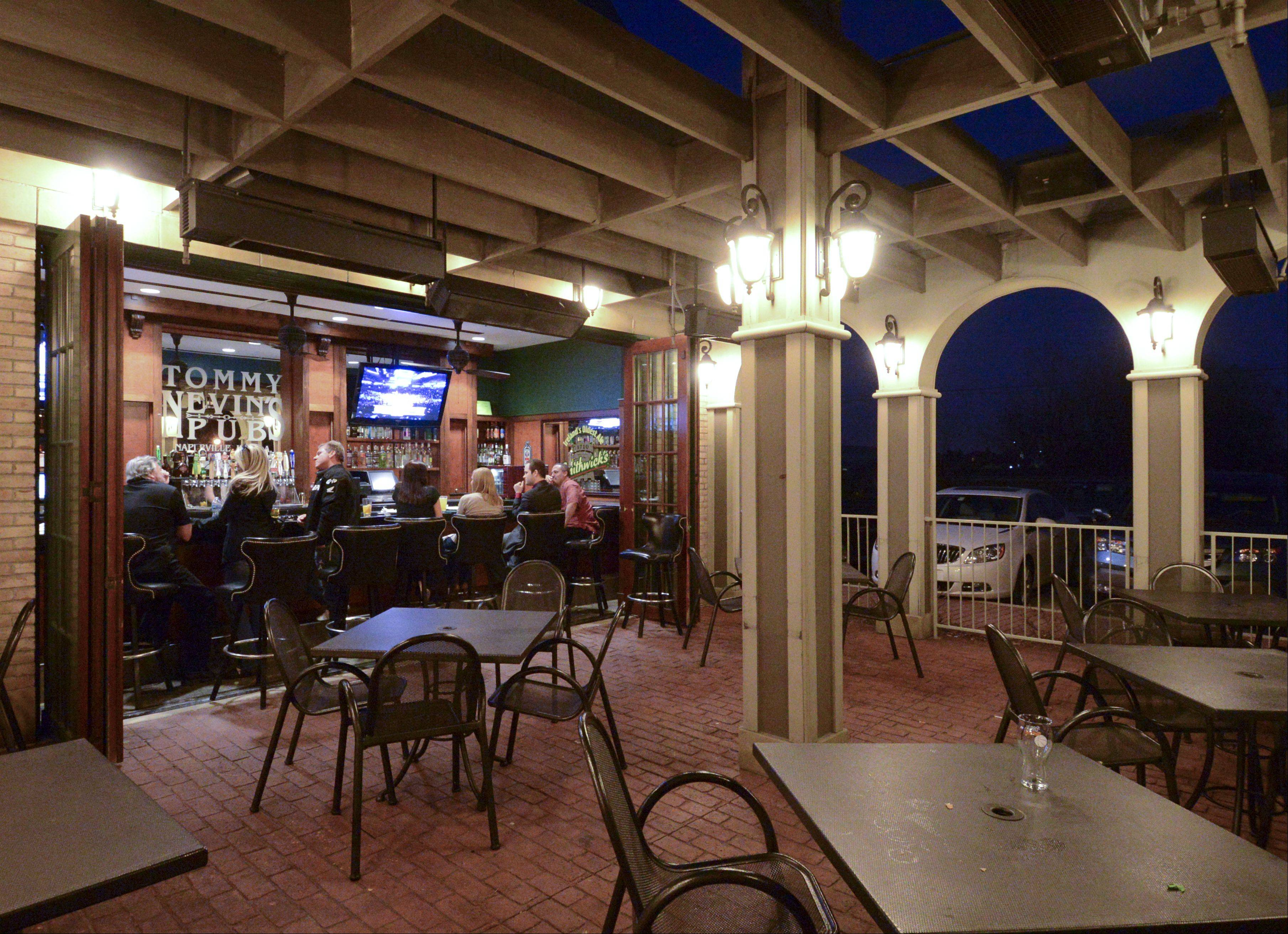 Once the weather warms up, the outside patio bar will be the place to be at Tommy Nevin's.