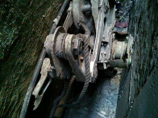 Police say a piece of landing gear believed to be from one of the planes destroyed in the Sept. 11 attacks has been discovered wedged between two New York City buildings.