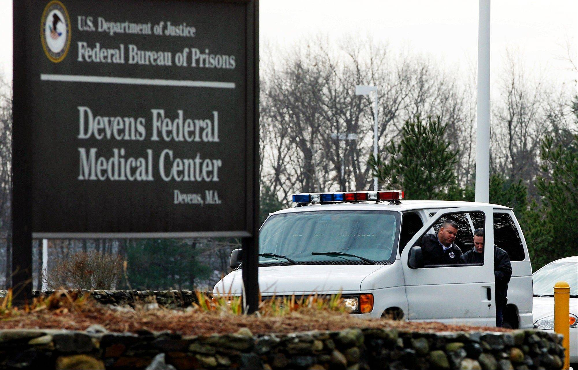 The Devens Federal Medical Center in Devens, Mass. The U.S. Marshals Service said Friday, April 26, 2013, that Dzhokhar Tsarnaev, charged in the Boston Marathon bombing, had been moved from a Boston hospital to the federal medical center at Devens, about 40 miles west of the city.
