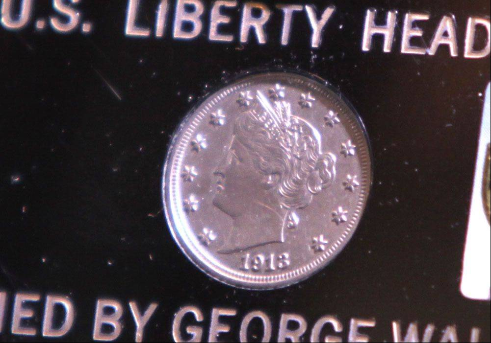 This 1913 Liberty Head Nickel -- one of only five known to exist -- was auctioned Thursday night during the Central States Numismatic Society show at the Schaumburg Convention Center.