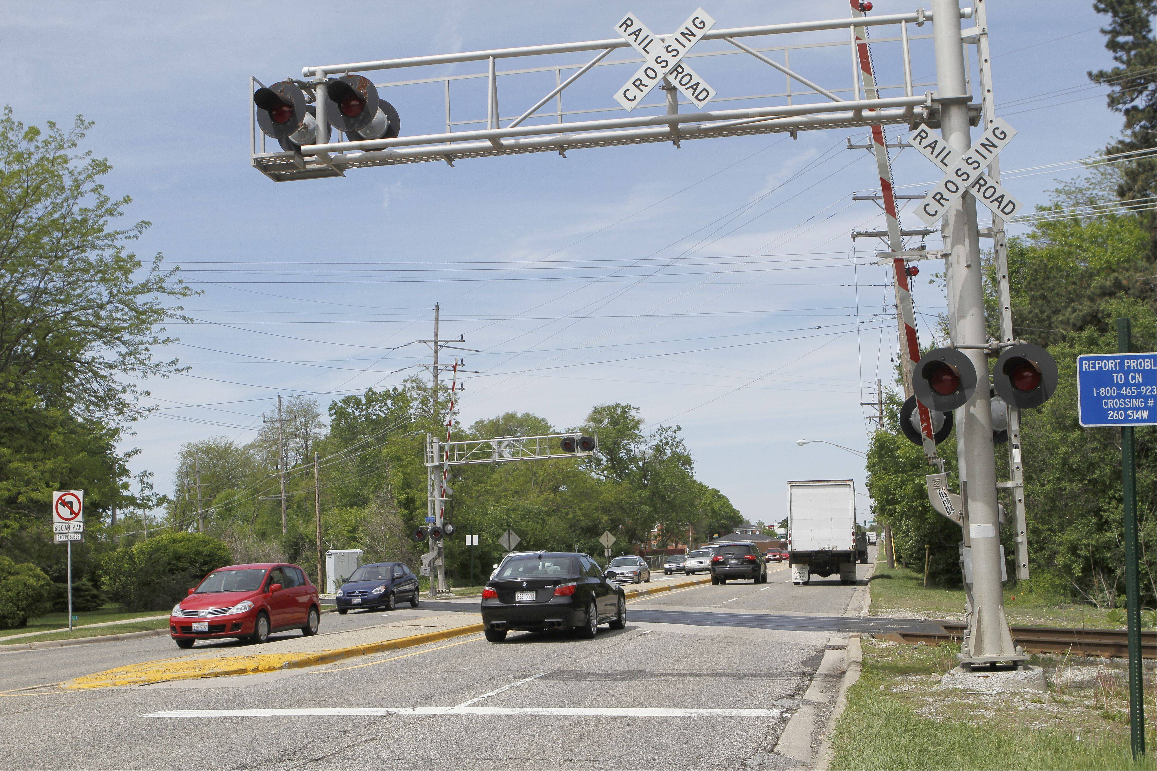 Options for either a Route 14 underpass or overpass are being considered for the currently at-grade crossing of the Canadian National railroad tracks in Barrington.
