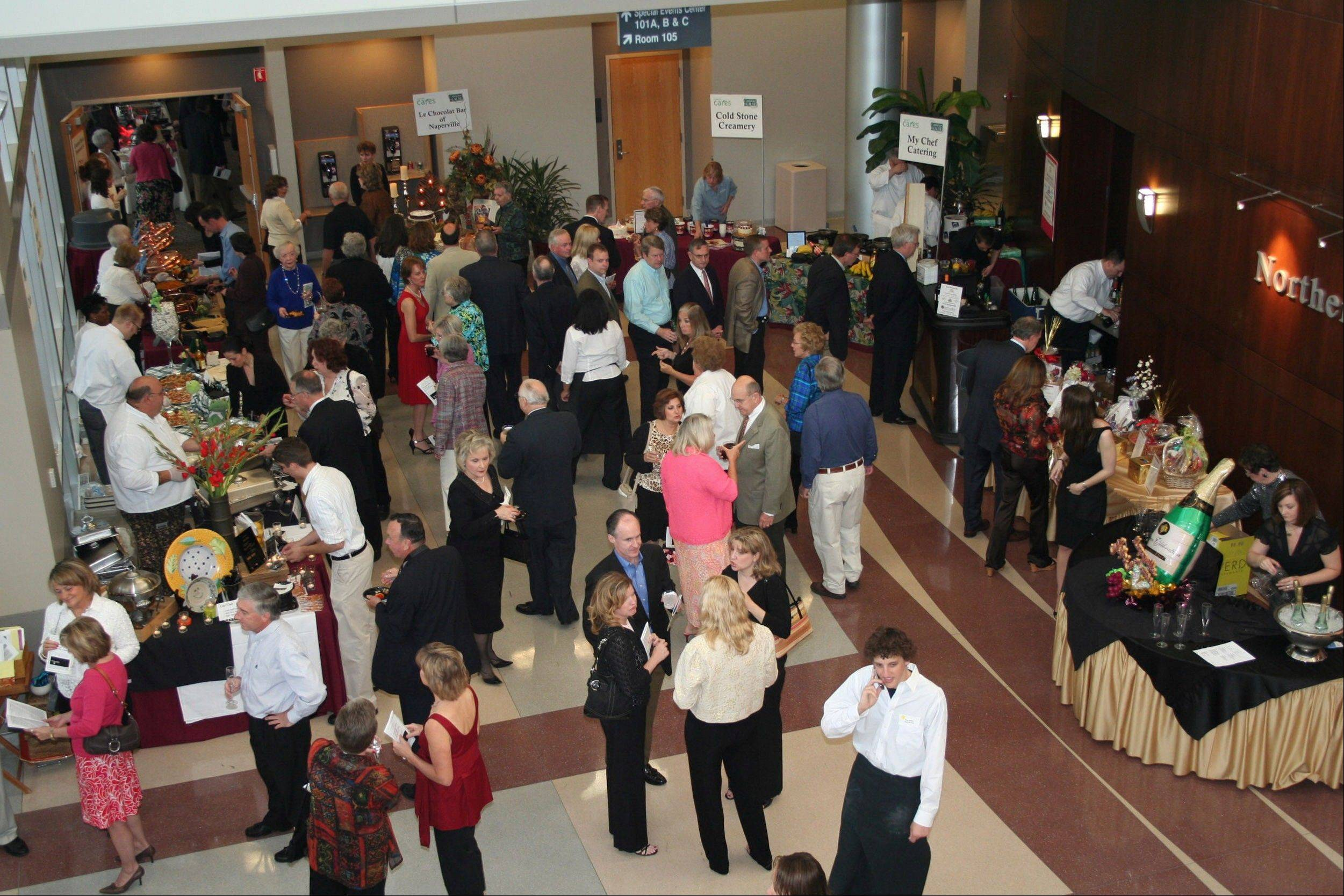 Naperville CARES' Cuisine for a Cause features samples of food from 25 area restaurants. Proceeds support the organization's emergency aid for people in financial crisis.