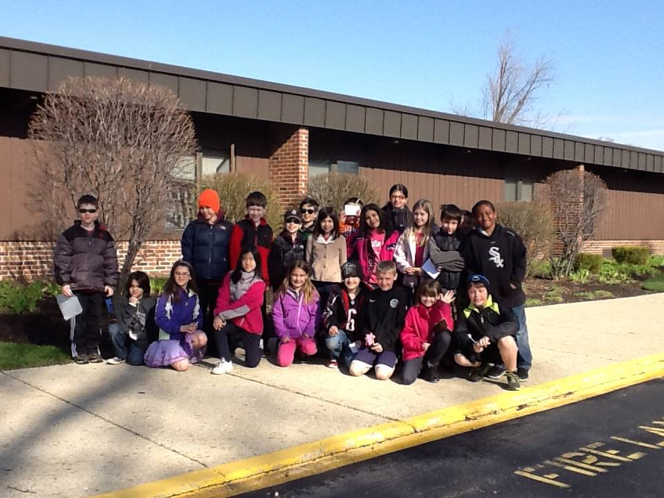 Mrs. 3rd Grade Class embarking on their walking tour of Prospect Heights