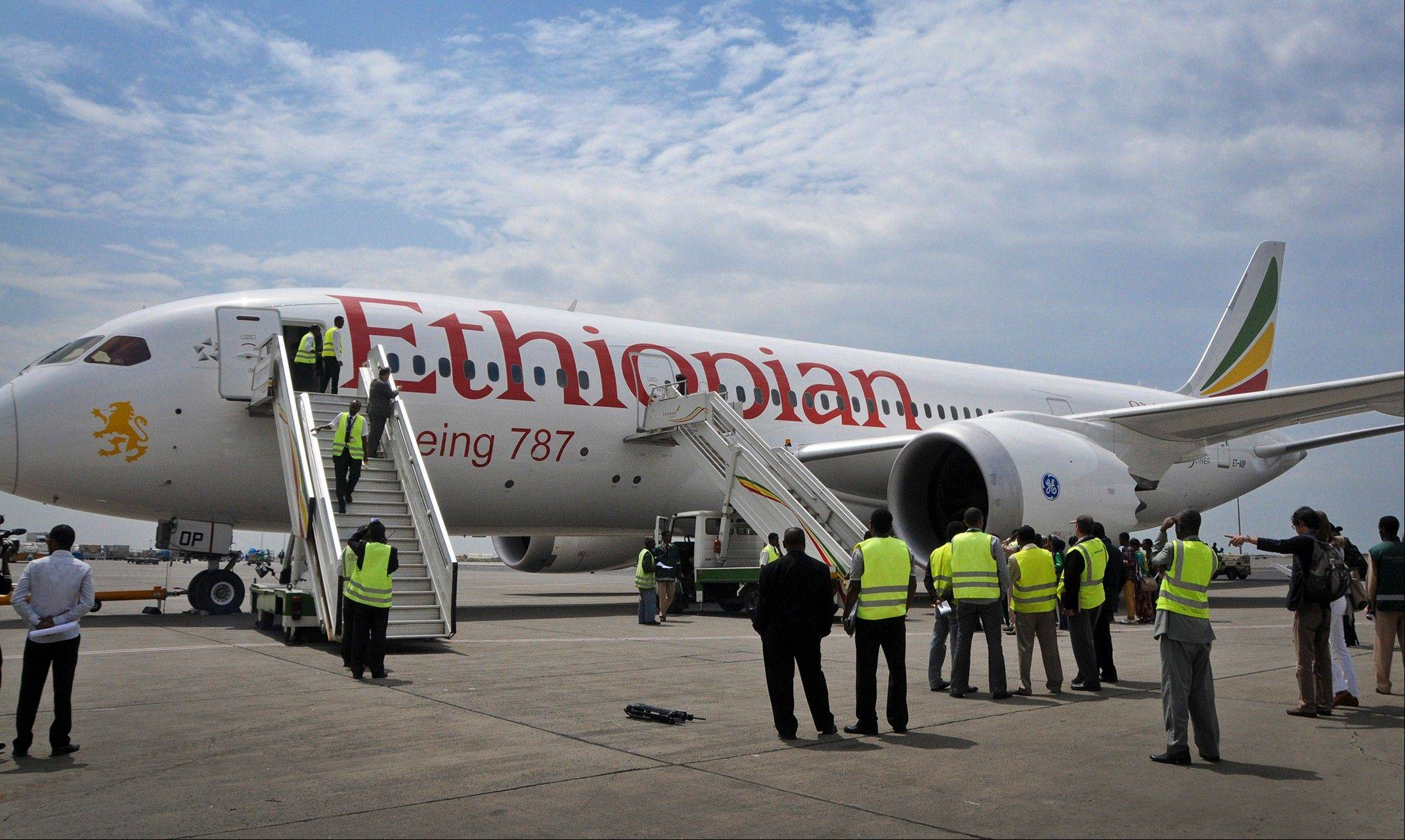 An Ethiopian Airlines� Boeing 787 Dreamliner prepares to take off Saturday from Addis Ababa airport in Ethiopia.