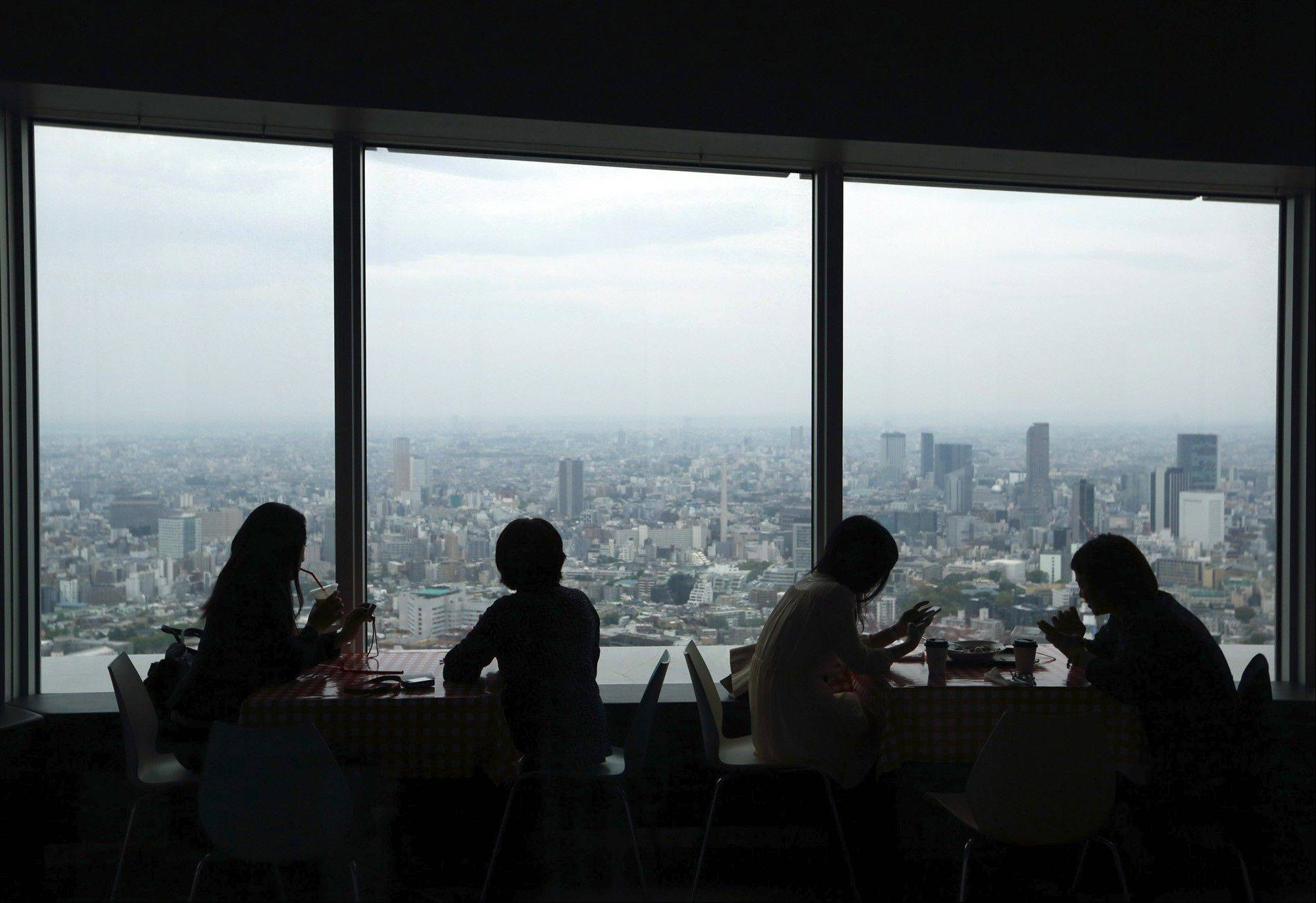 Lunch diners in the Roppongi Hills Mori Tower in Tokyo, a spot once favored by bankers but now populated by technology workers.