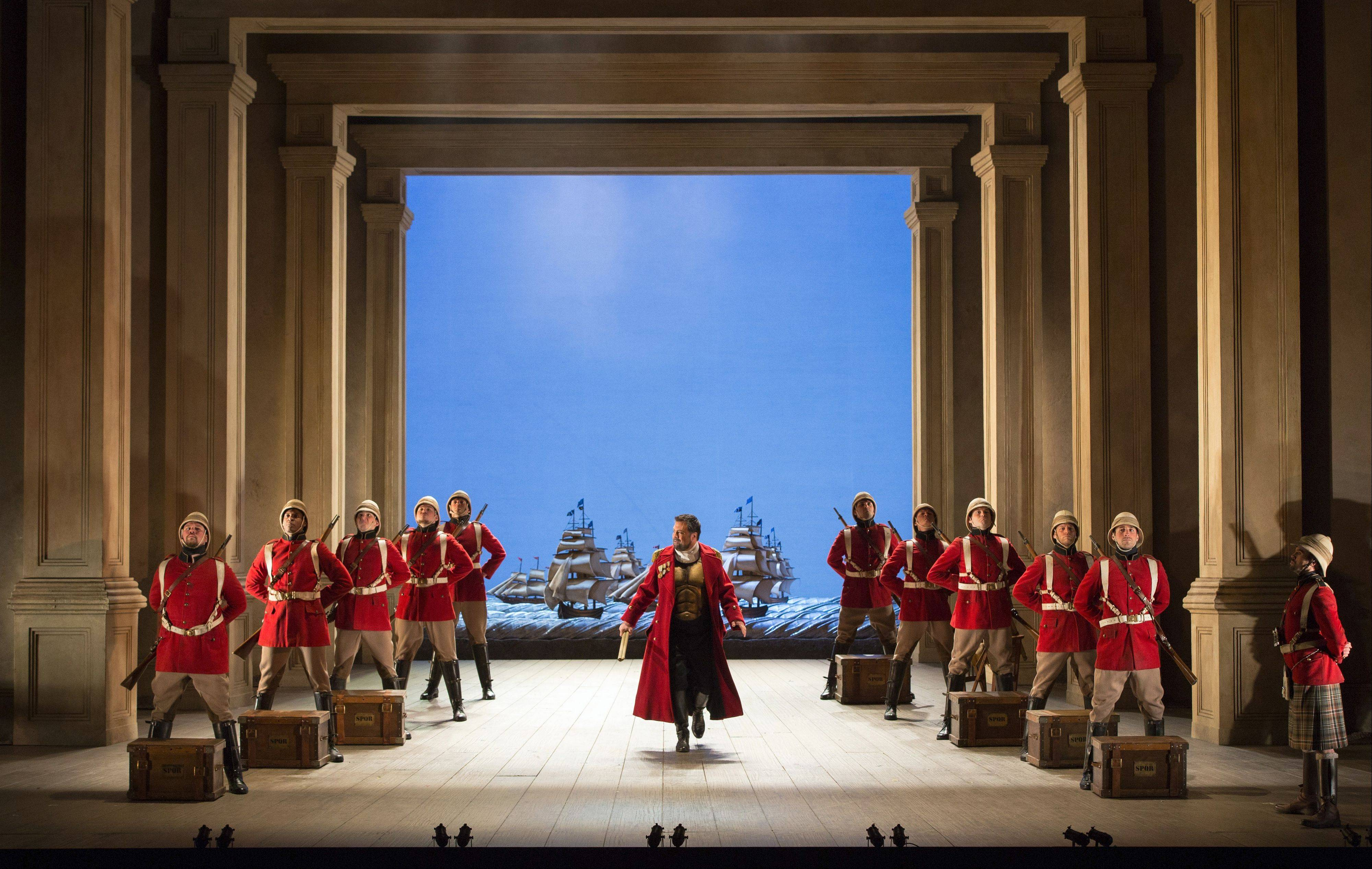 "Countertenor David Daniels (center) stars in the title role of Handel's ""Giulio Cesare"" (""Julius Caesar""). Sir David McVicar's acclaimed production, previously seen at the Lyric Opera of Chicago, is simulcast to movie theaters worldwide as part of the Metropolitan Opera's Live HD series on Saturday, April 27."