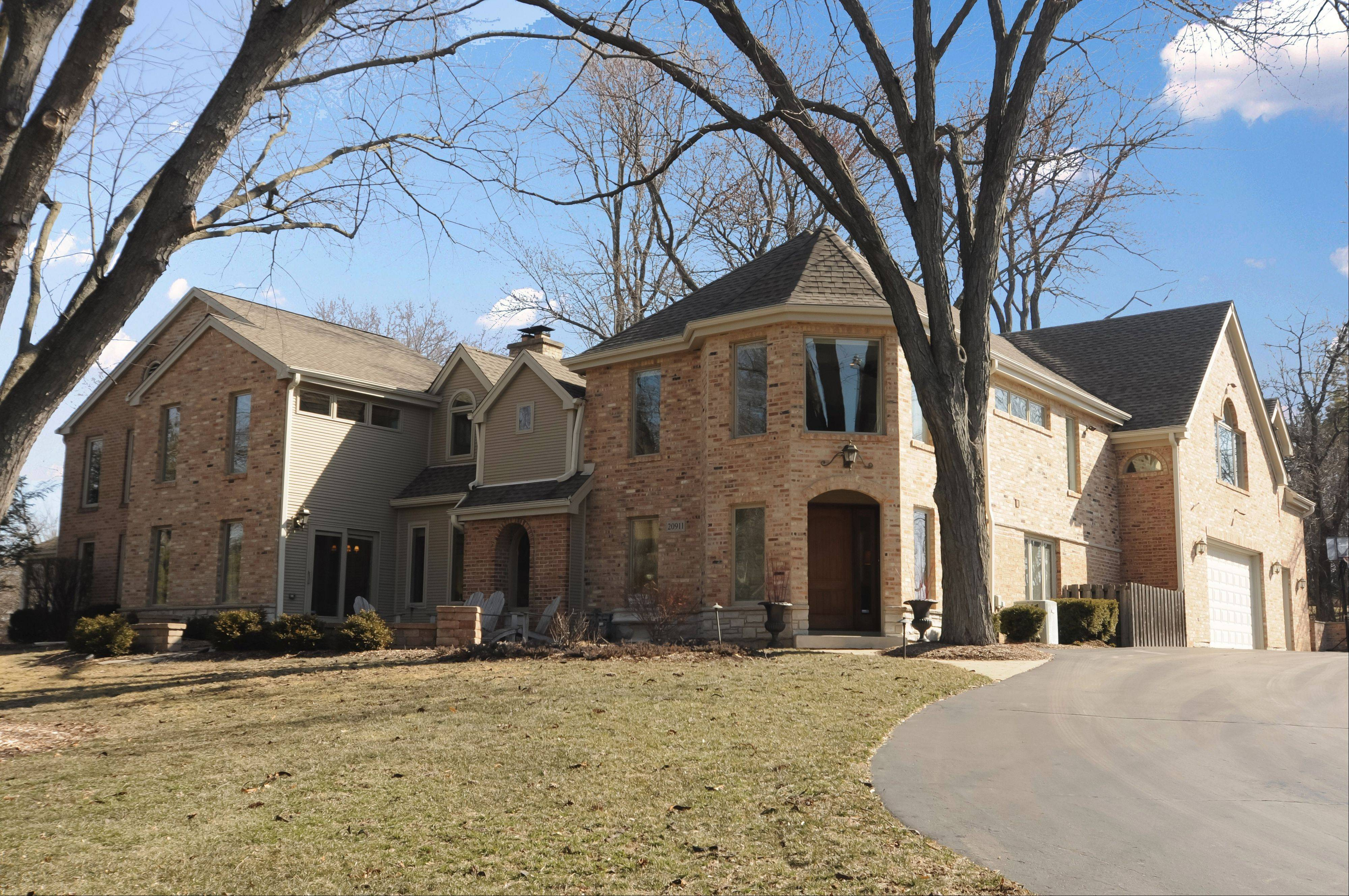 This brick home close to downtown Barrington has been enlarged in recent years.