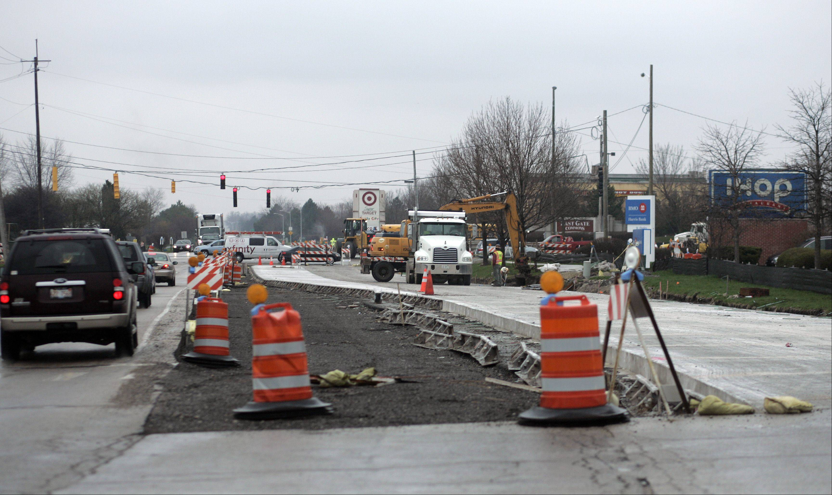 Construction continues in St. Charles including along Smith Road on the city's far east side.