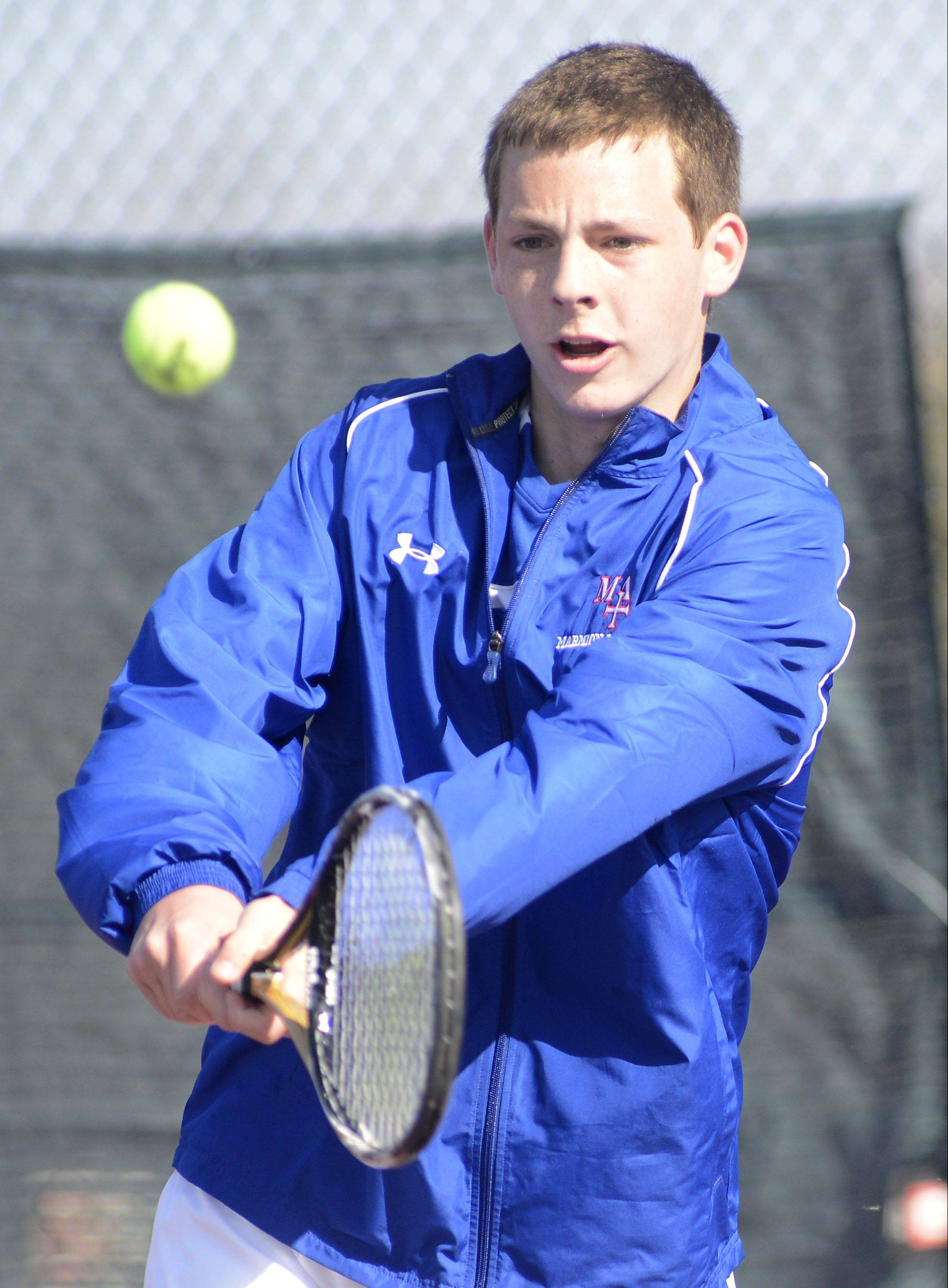 John King helped Marmion win the title Saturday at West Aurora's invitational.