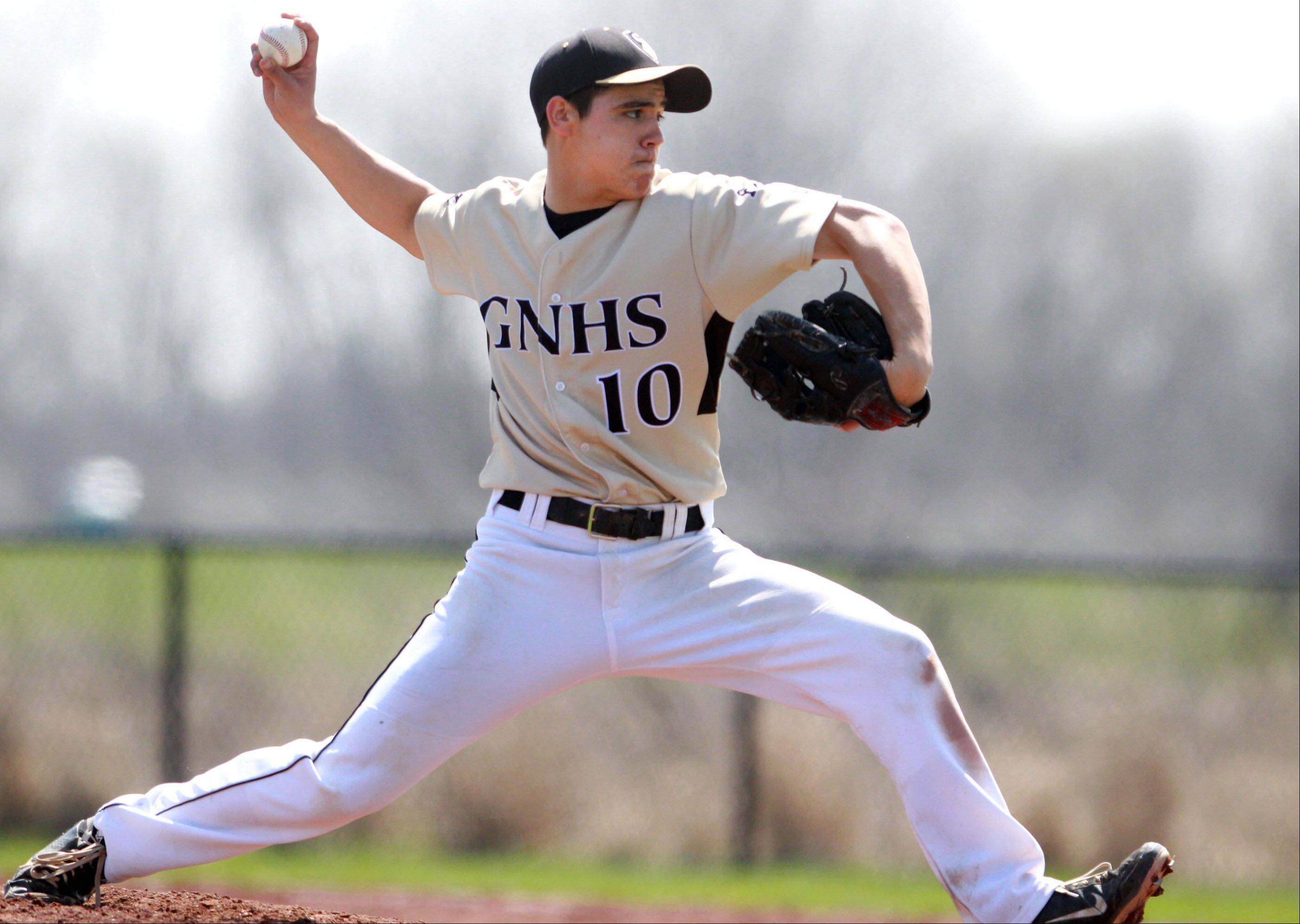 Grayslake North pitcher Alex Alvarez delivers against Hampshire on Saturday.