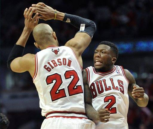 Nate Robinson scored 34 points, and the Bulls wiped out a 14-point deficit late in regulation and beat the Brooklyn Nets 142-134 in triple overtime Saturday to take a 3-1 lead in the first-round playoff series