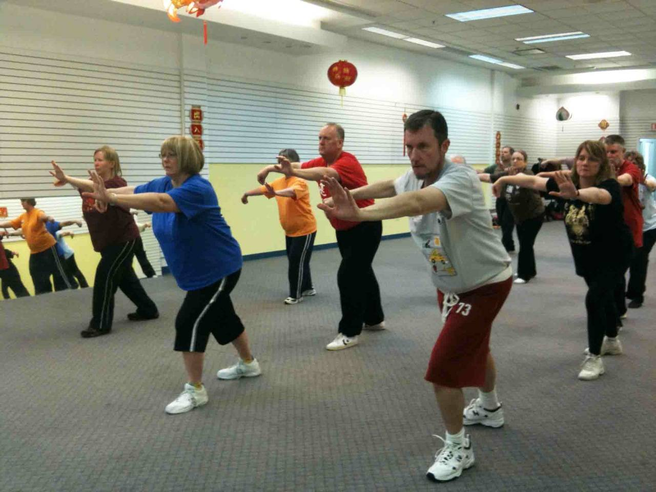 Taoist Tai Chi Society members practice in their St Charles location