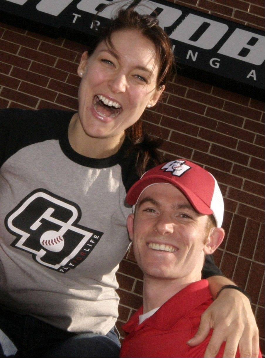 Kate Mitchum and fiancee Tony Feo, who co-own Lake Zurich-based Go Hardball.