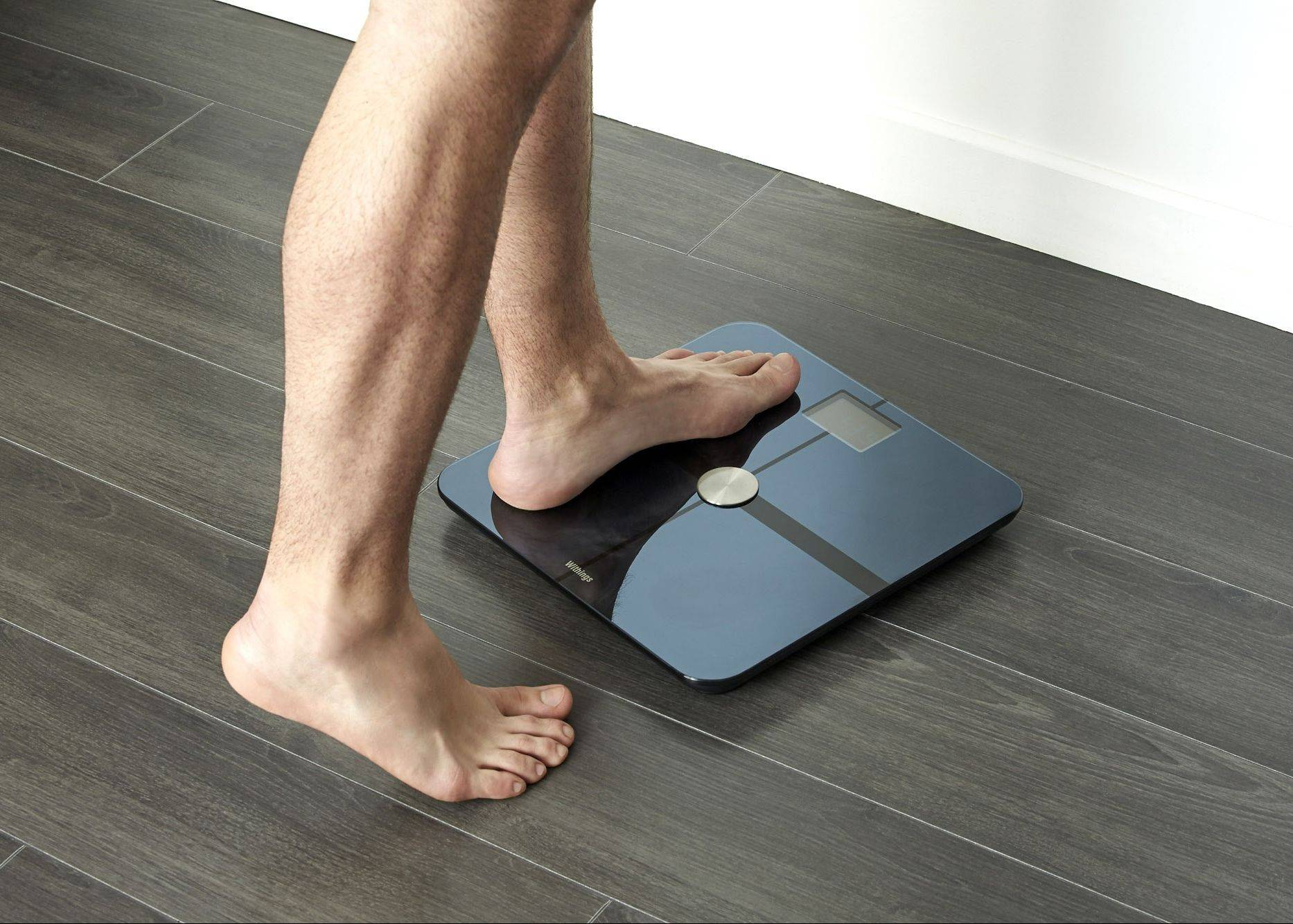 Withing's Smart Body Analyzer can use WiFi or Bluetooth to sync to your smart phone or tablet.