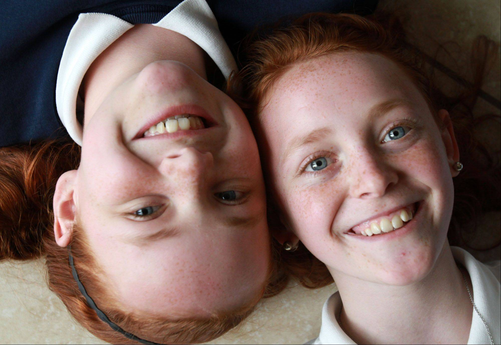 Megan, left, and Erin Martin.