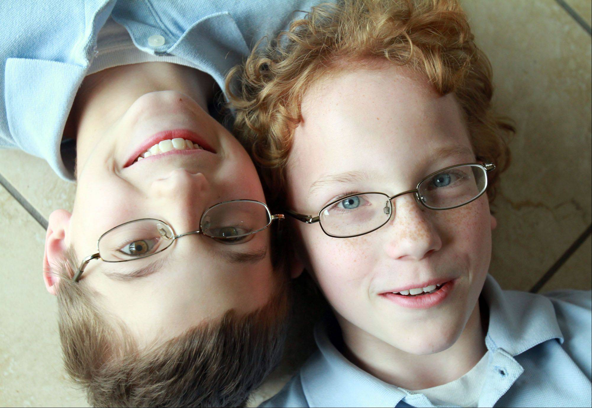 Matthew, left, and Lucas Lisowsky.