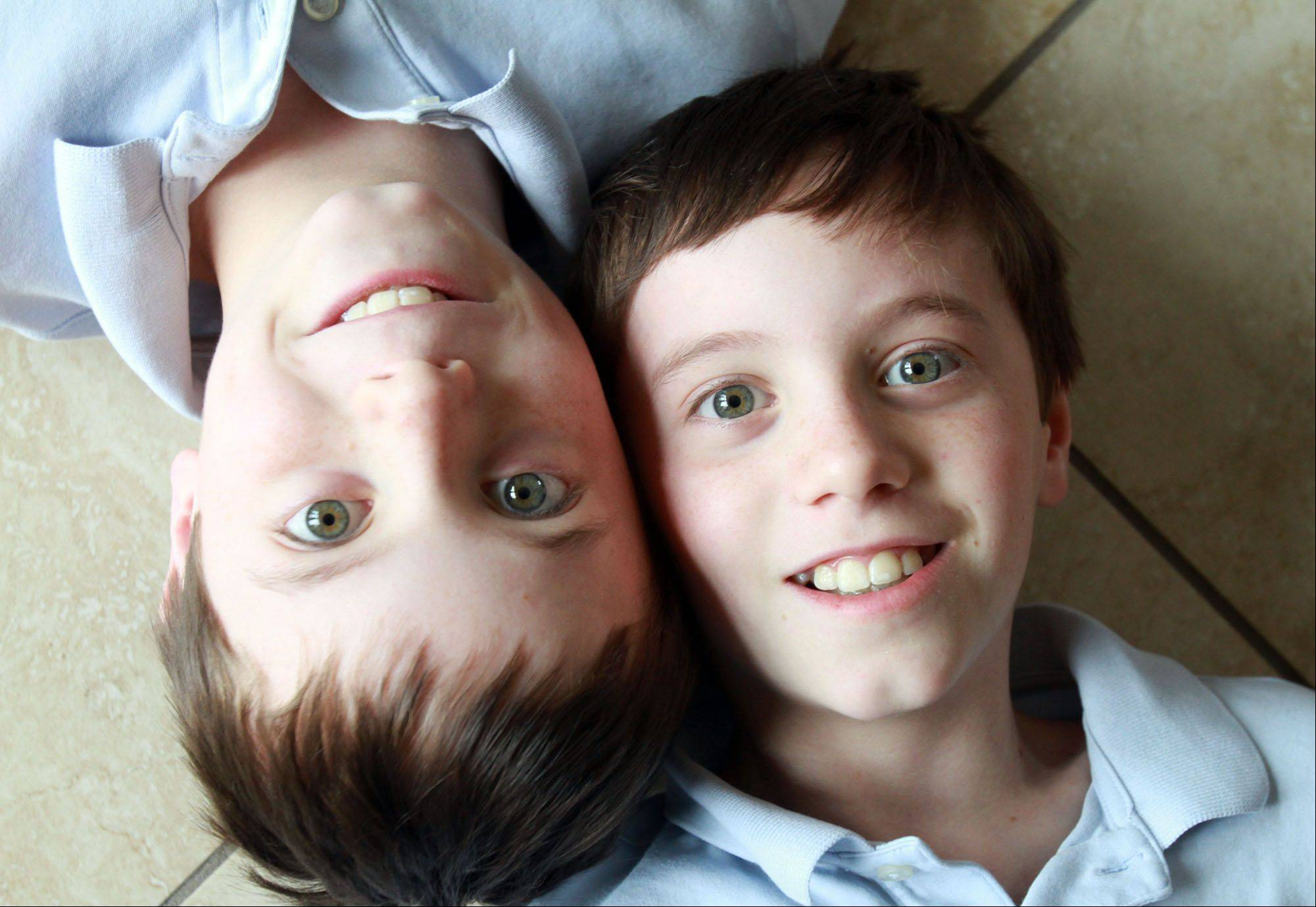 Connor, left, and Cameron MacMahon.