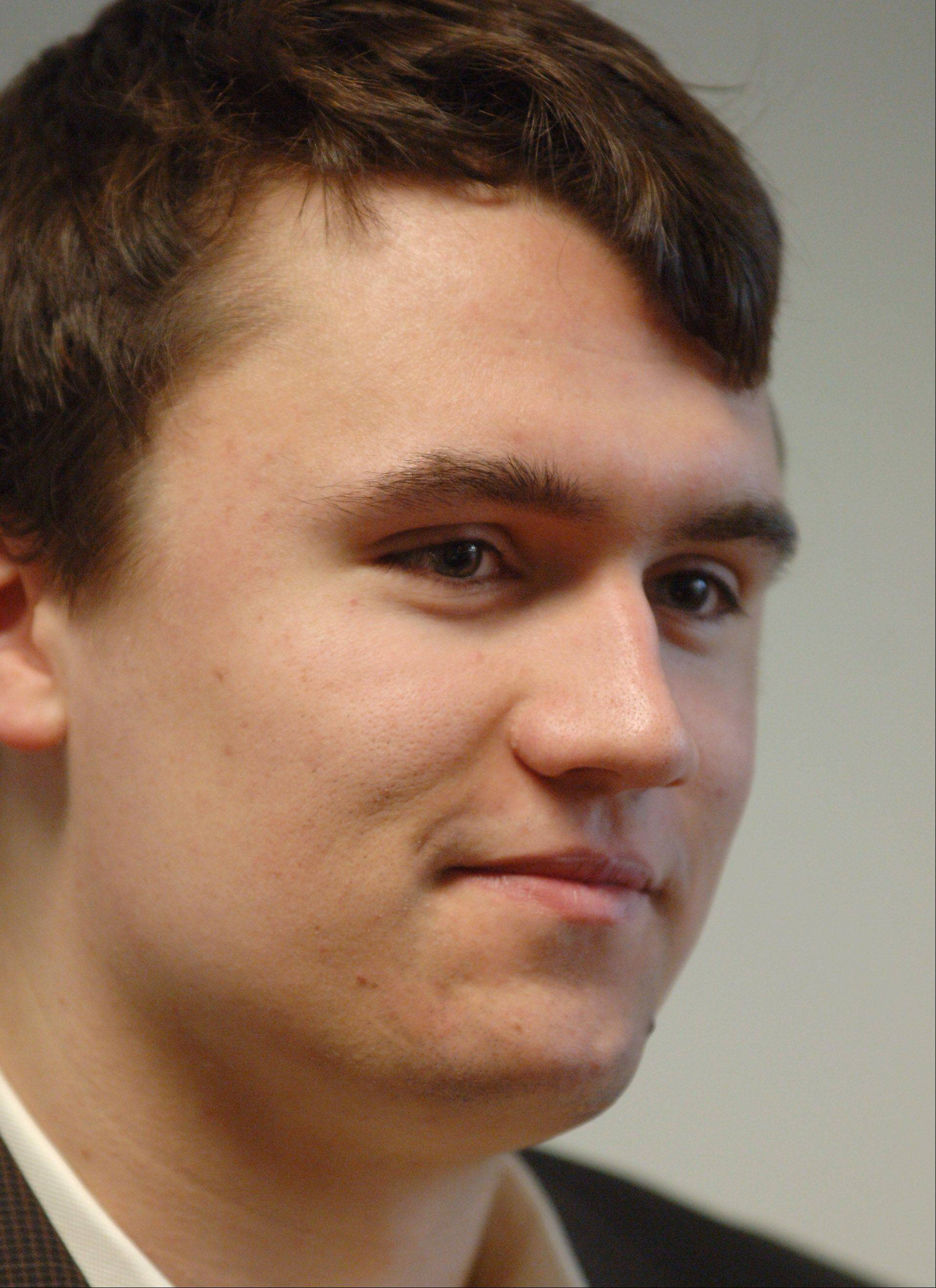 Charlie Kirk, 19, of Wheeling, founded the political Internet startup Turning Point USA and frequently has been in the national eye as a representative of politically active young people.