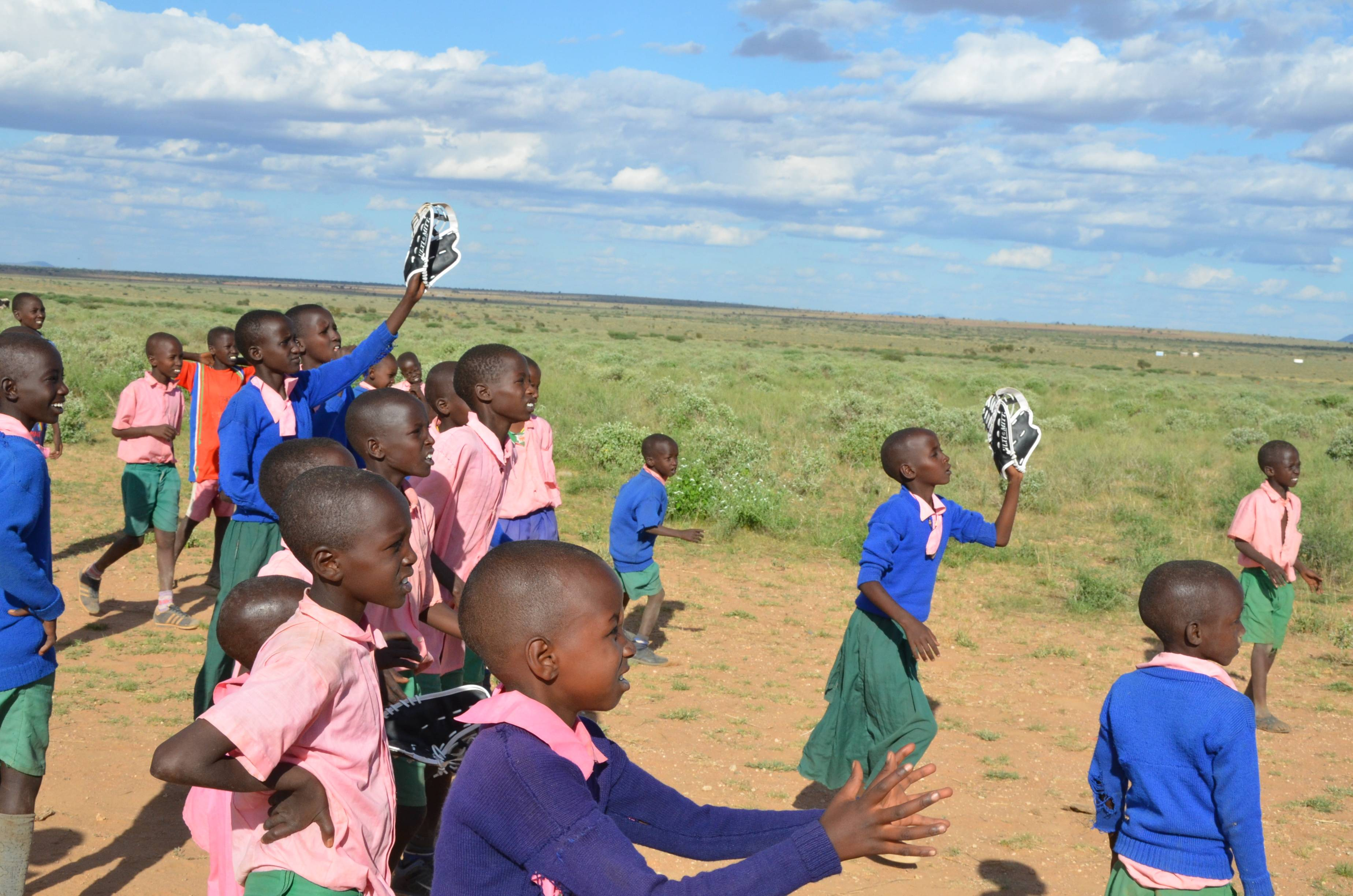 Gear for Goals' Awareness Night and Donation Drive hosted by Schaumburg Boomers Baseball Team on Friday, June 21st will benefit underprivileged children of Kenya (seen in photo) as well as other needy children around the globe.