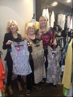 Celebrity Day at the Oscars fashion show organizers, from left, Laura Morask and Jan Provenzano with shop owner Allison Poppone.