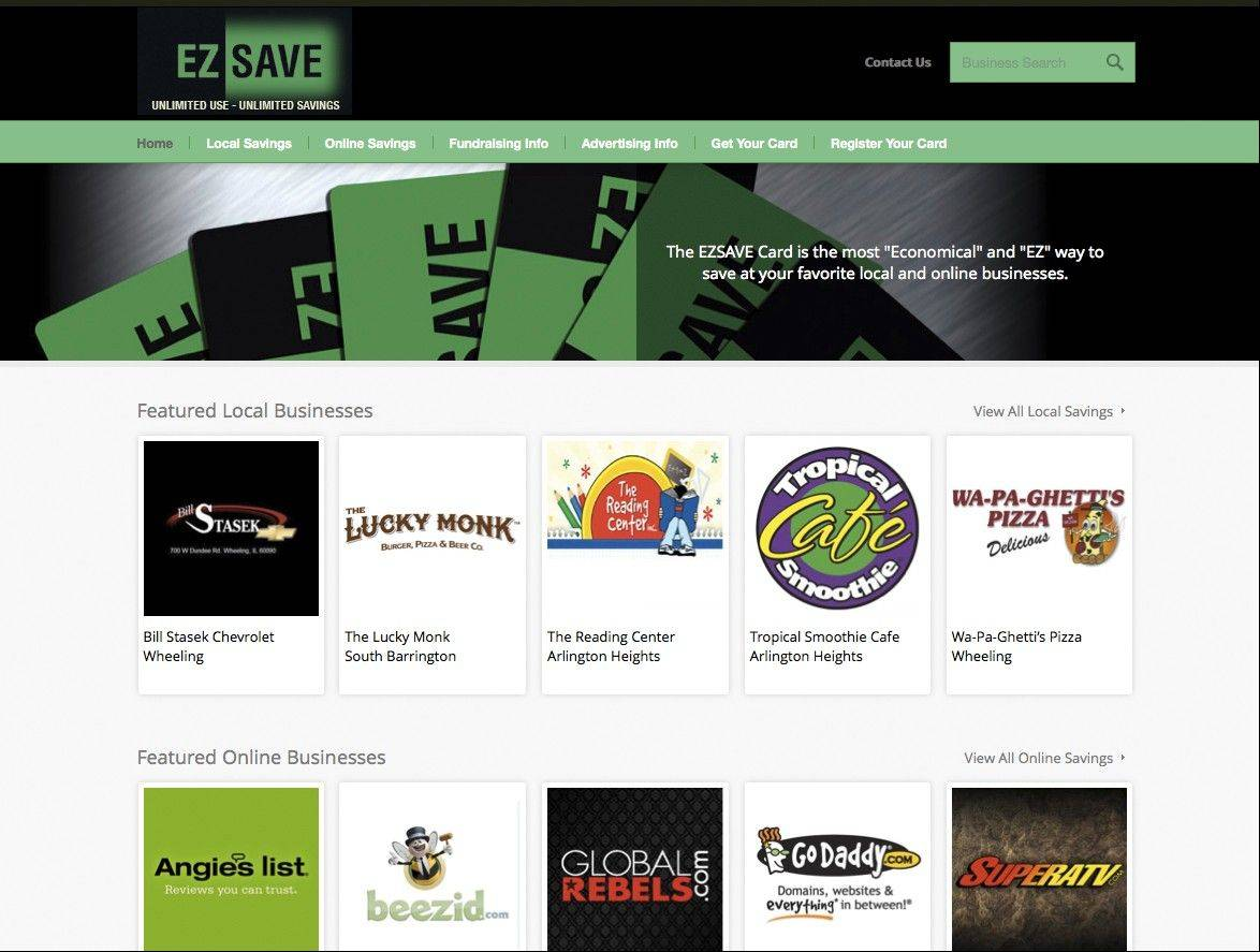 Here's a snapshot of the EZSave Card site.