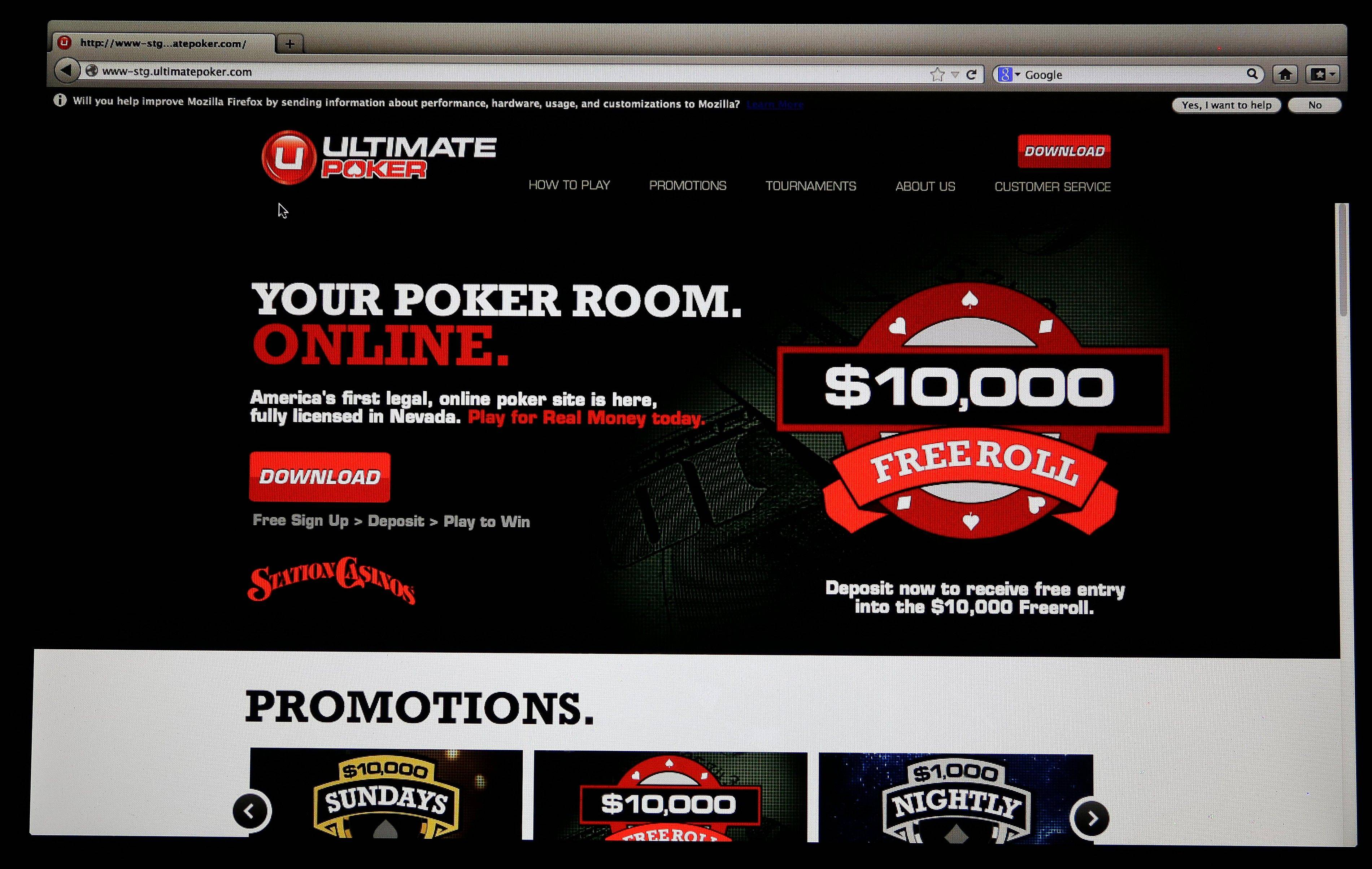 Social gaming company Ultimate Gaming is launching Ultimate Poker, the first legal, real-money poker site in the United States. The Ultimate Gaming site will be available only to in players in Nevada but likely represents the shape of things to come for gamblers across the country.