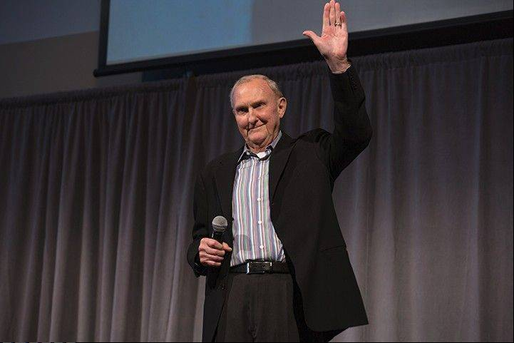 Michael J. Birck co-founder of Tellabs Inc. was feted Sunday at a reception with about 400 guests at the company's headquarters in Naperville. He officially retires as chairman of the board on Wednesday during the company's annual shareholder meeting.