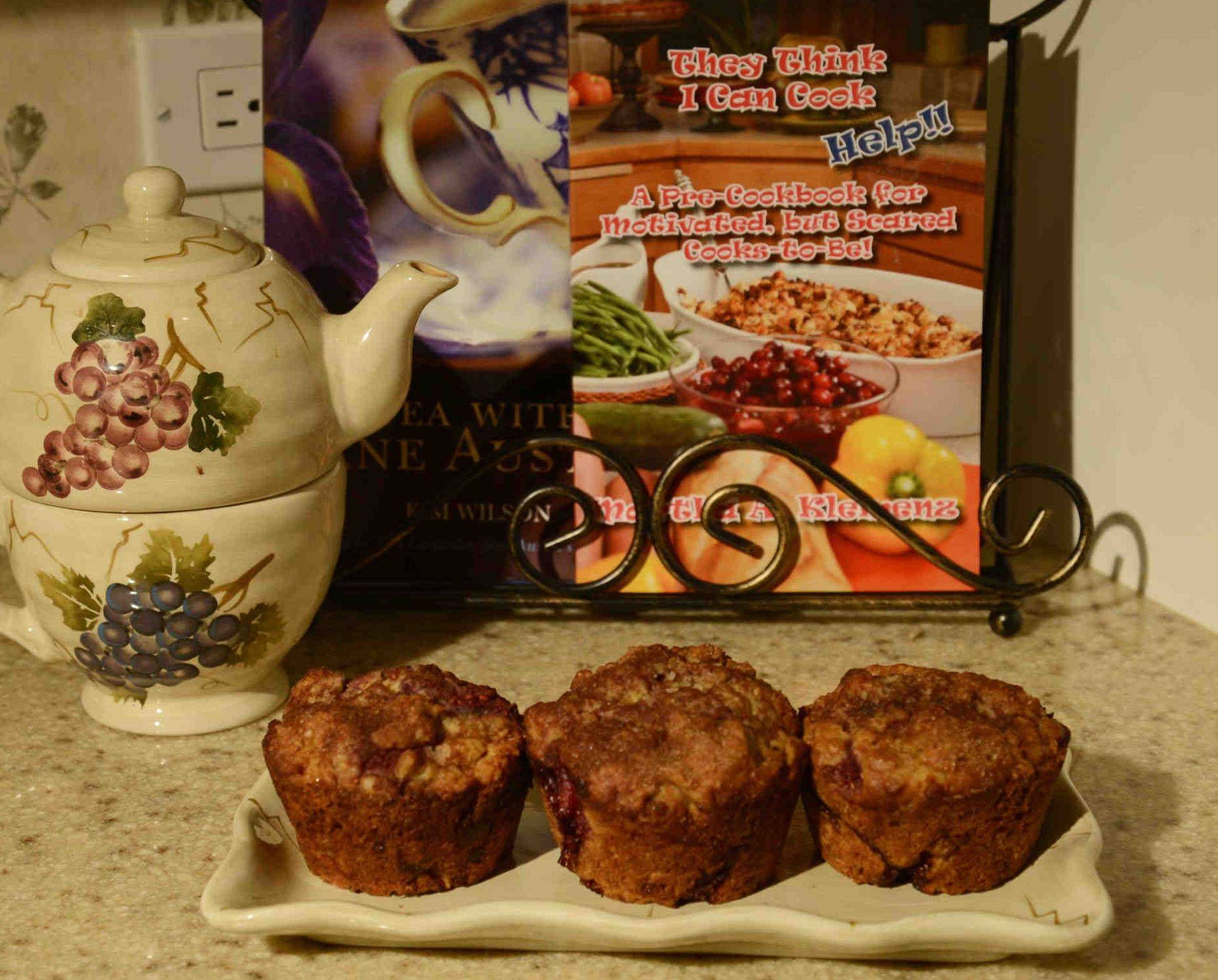 Martha Klemenz stirs bran cereal, wheat germ, oat bran and fresh raspberries into her hearty morning muffins.