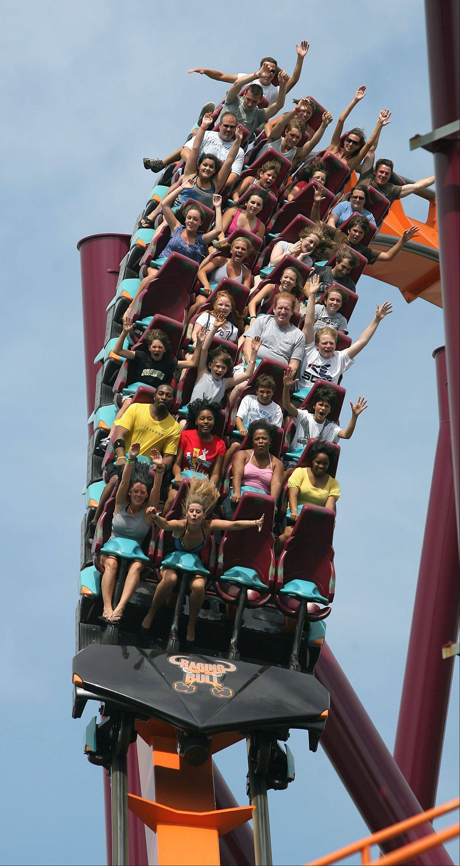 Raging Bull remains a crowd favorite at Six Flags Great America in Gurnee, reopening for the season this weekend.