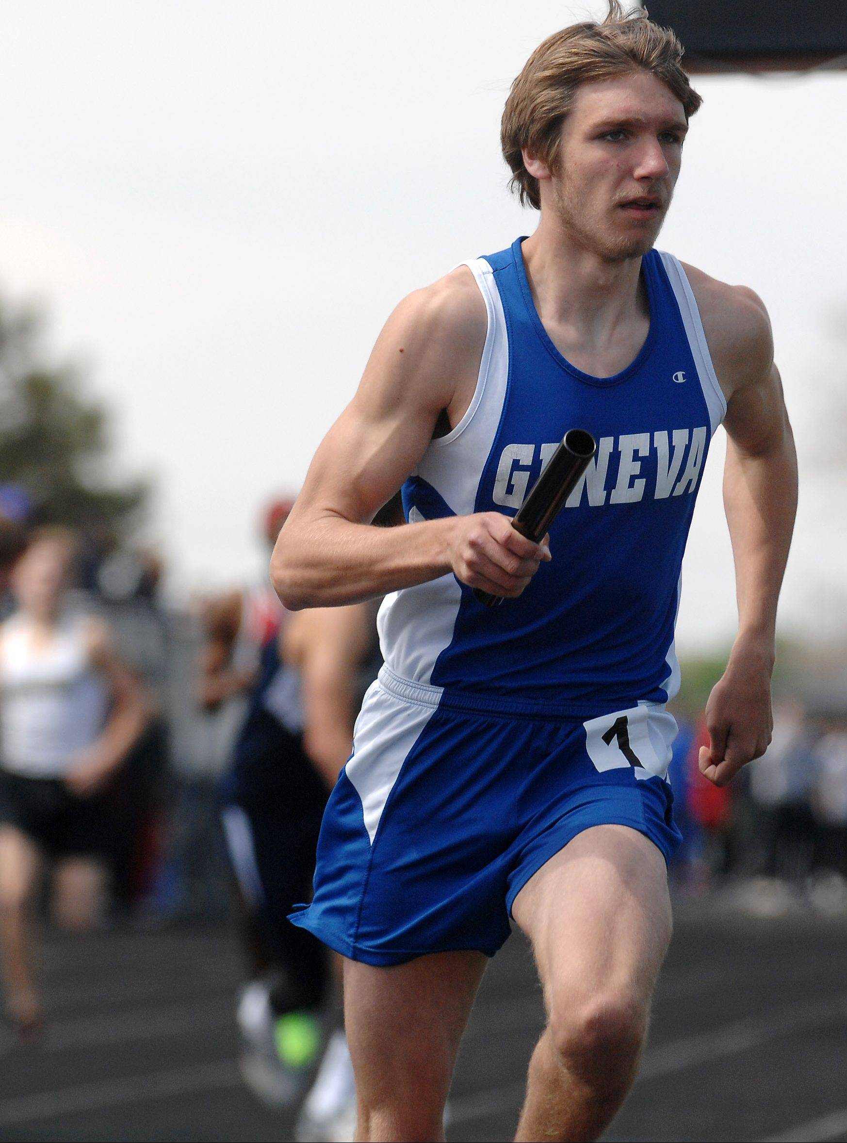 Geneva's Nathan Wendt finished eighth in the 800 out of 62 teams on Saturday as the Vikings traveled to Kentucky for a meet.