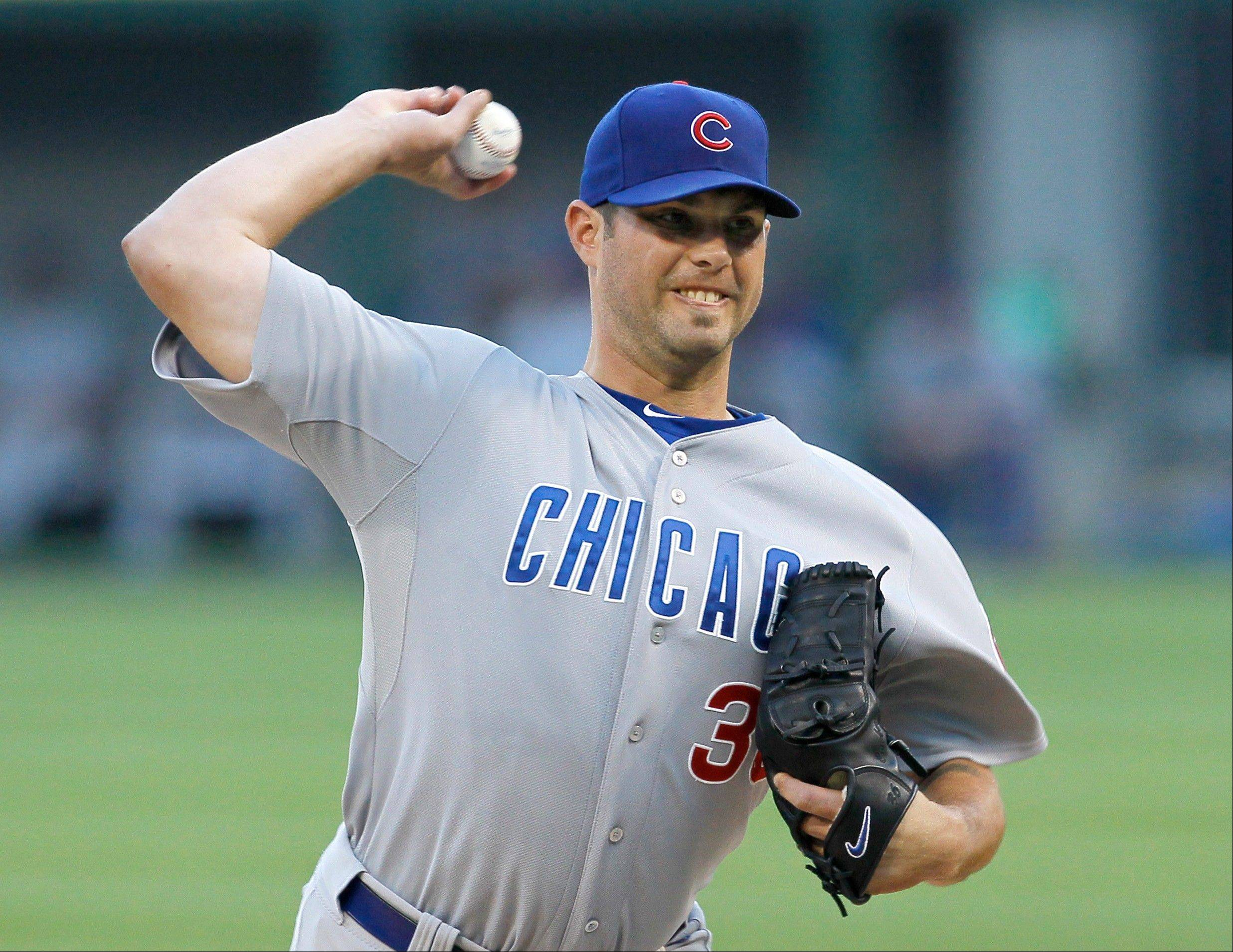 Relief pitcher Randy Wells was 1-2 in 12 games last season for the Cubs.