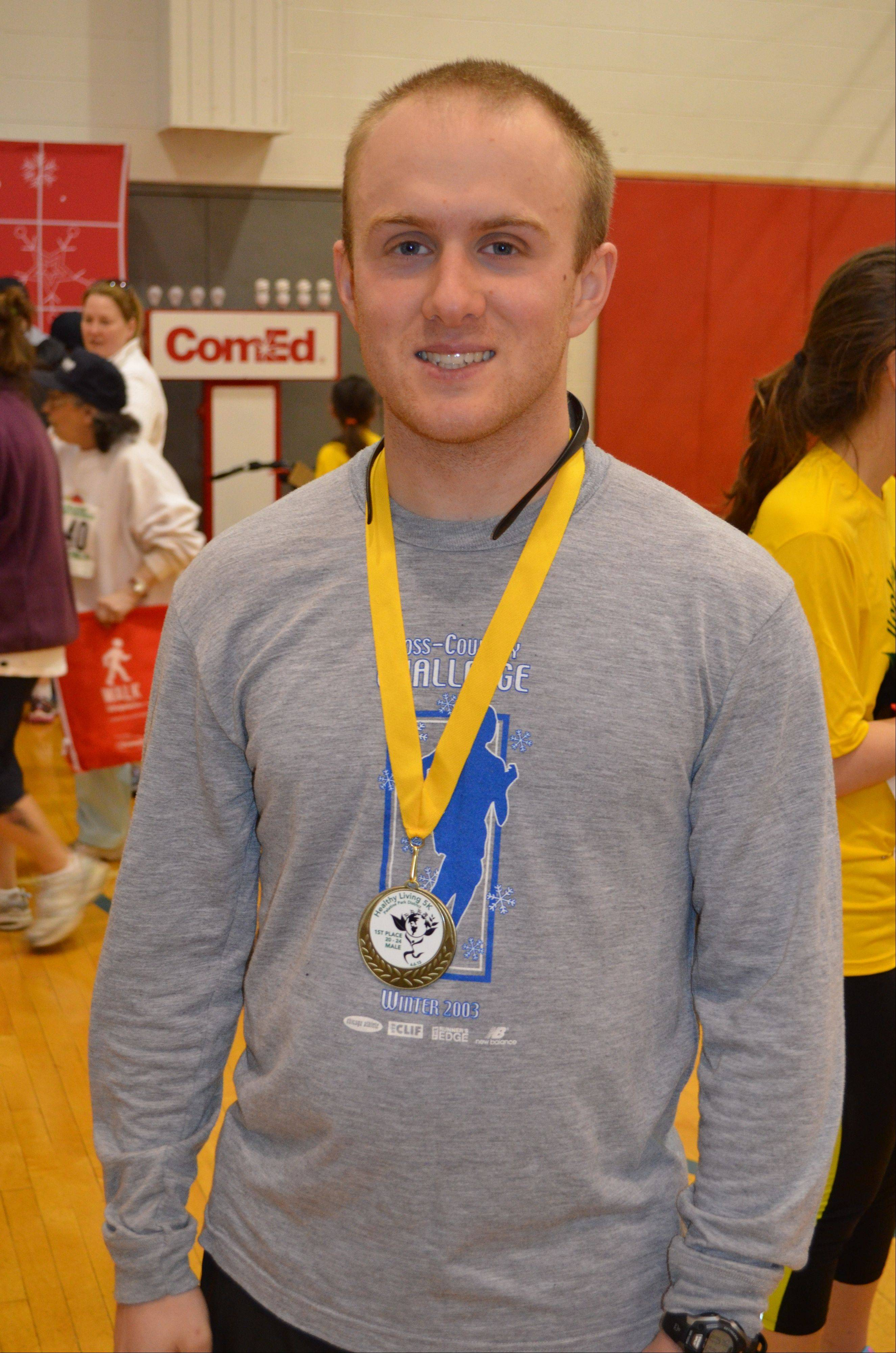 The Palatine Park District hosted a Healthy Living event on April 6. Brian Lane was the first to cross the finish line in the 5K.