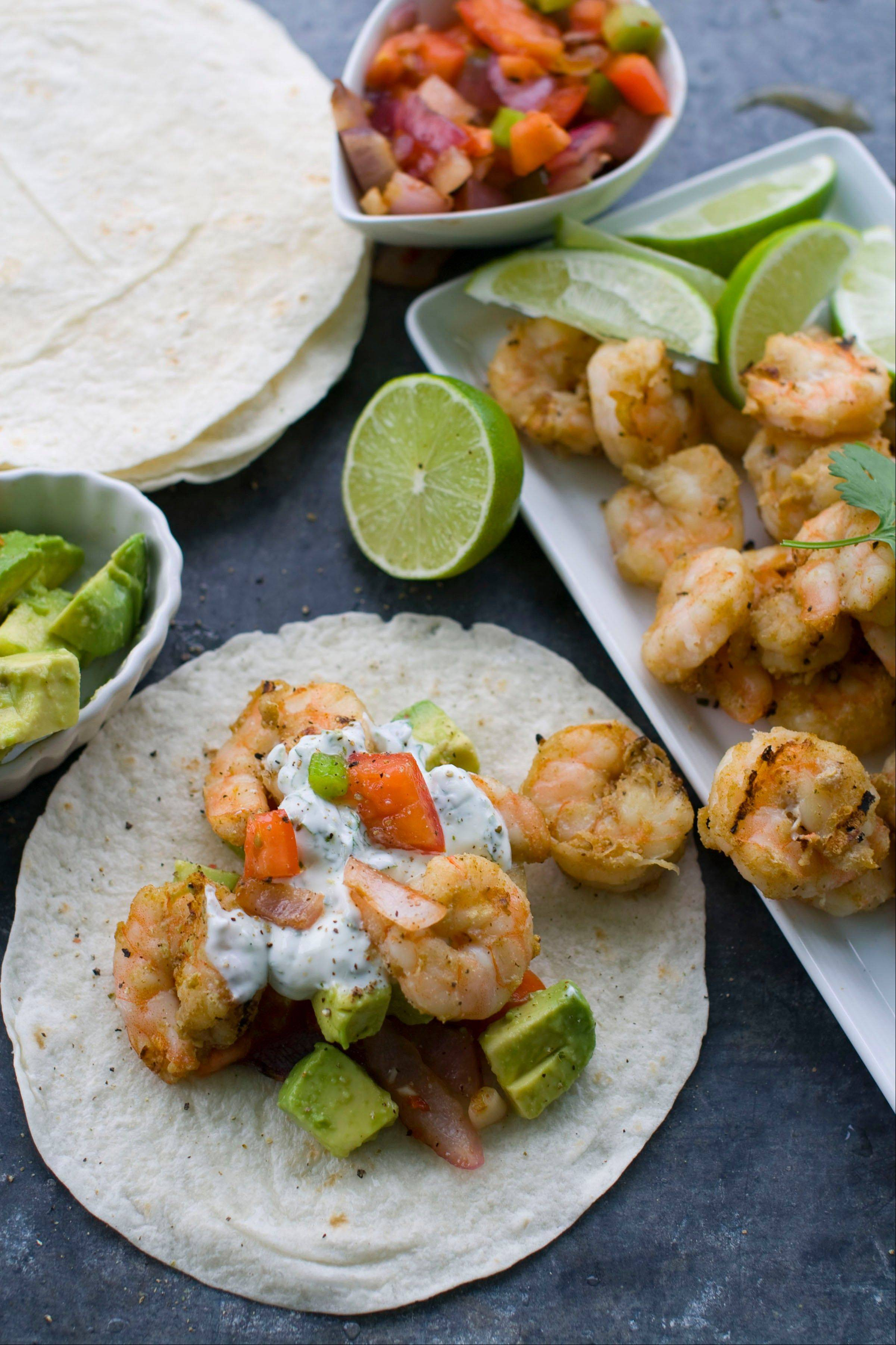 Begin the Cinco de Mayo fiesta outside with these grilled shrimp tacos.