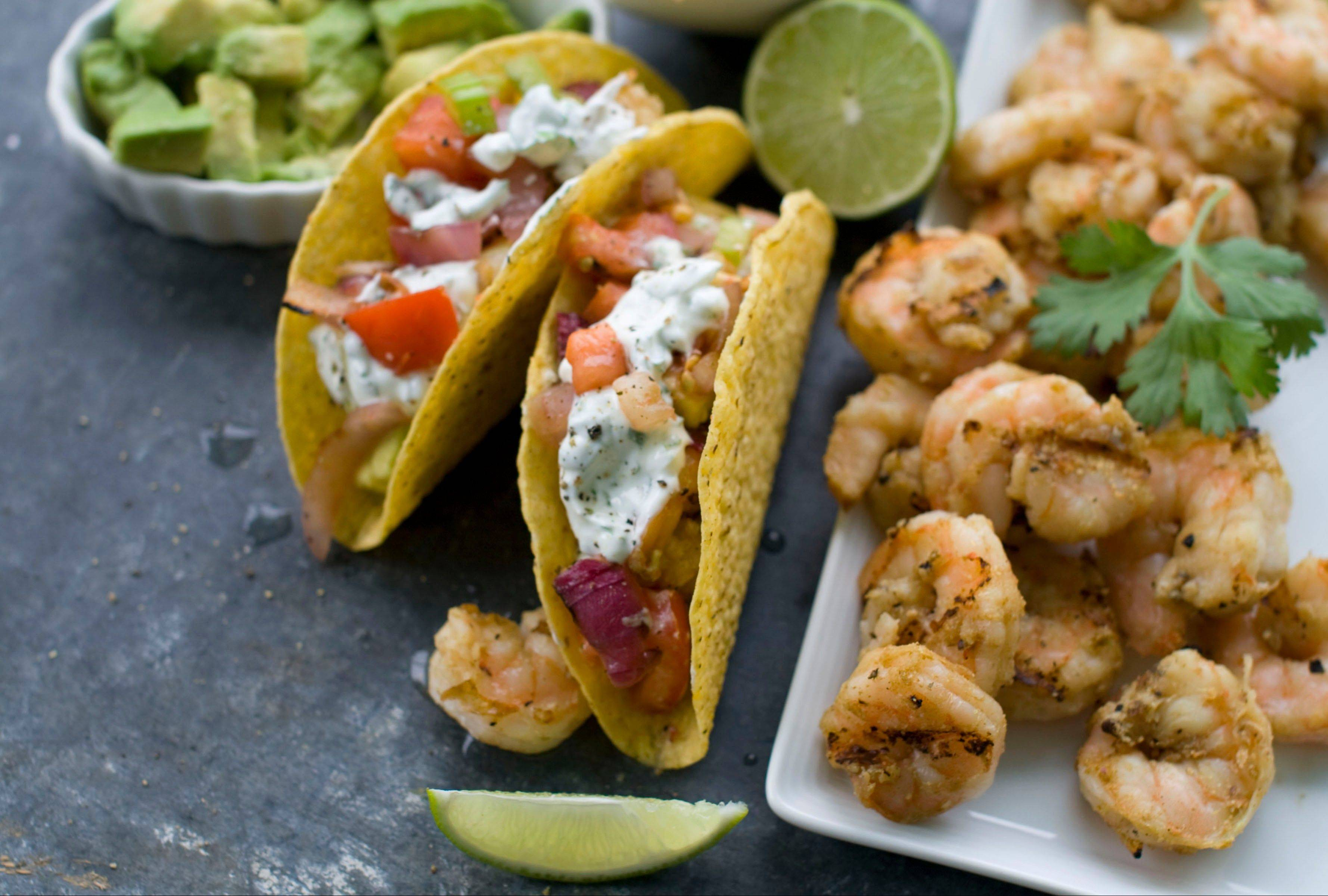 Fire up the grill for shrimp tacos