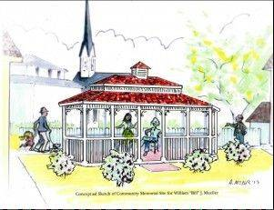 A Victorian-style gazebo to serve as a community gathering place is being planned as a memorial to late Lombard Village President William J. �Bill� Mueller. Community volunteers are seeking $30,000 to build the gazebo and surrounding gardens on the property of the Victorian Cottage Museum at 23. W. Maple St.