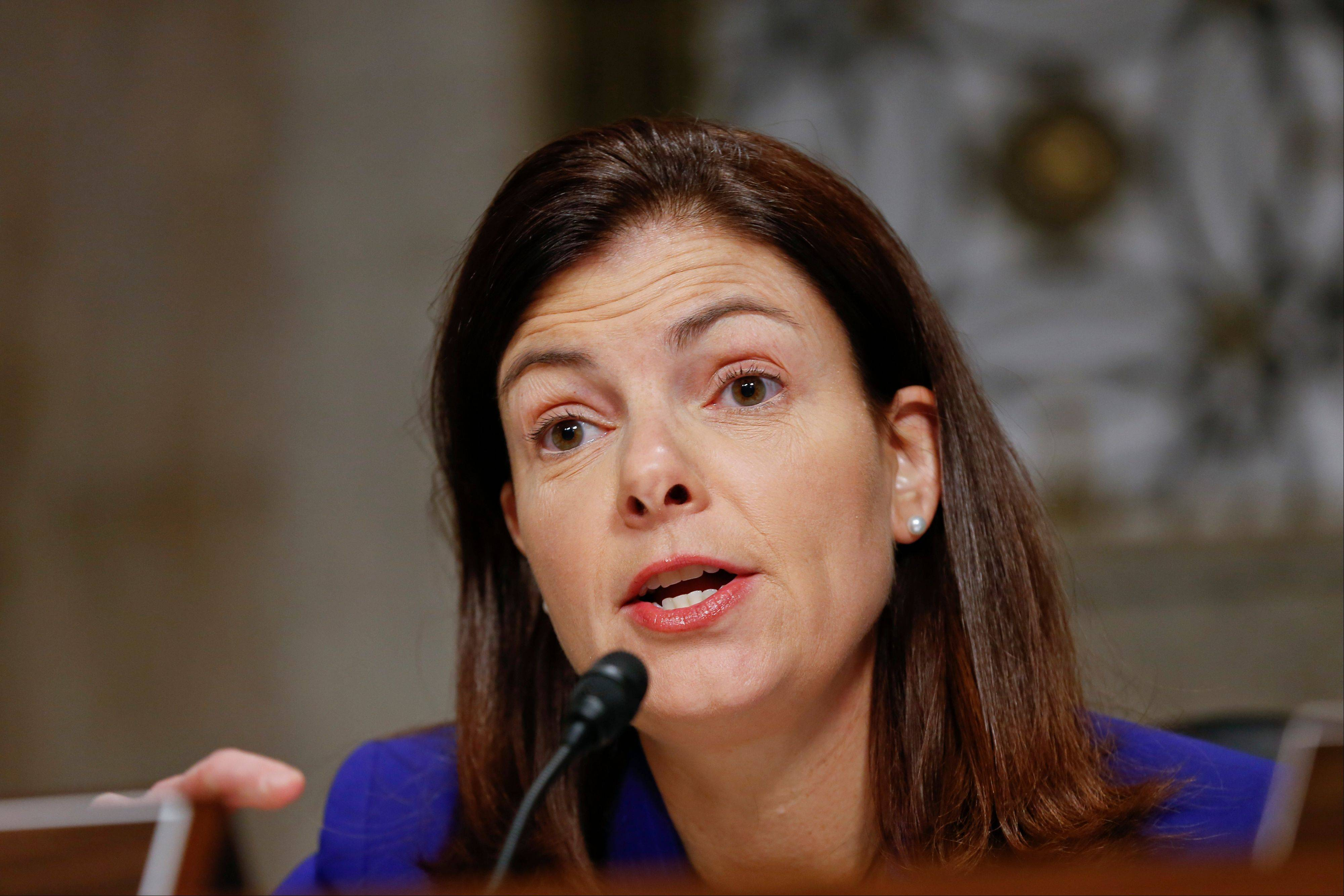 Sen. Kelly Ayotte, R-N.H., defended her vote against gun control legislation at a town-hall meeting Tuesday.