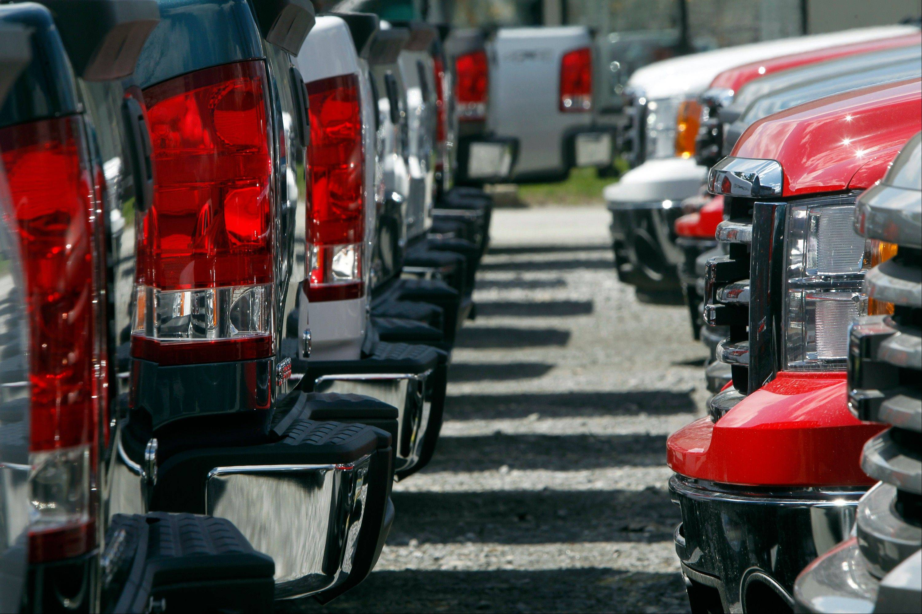 Ford, GM, Chrysler and Nissan all reported double-digit U.S. sales increases last month, signaling the best April for car and truck sales in six years.
