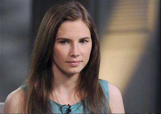 Amanda Knox during the taping of an interview with ABC News' Diane Sawyer in New York.