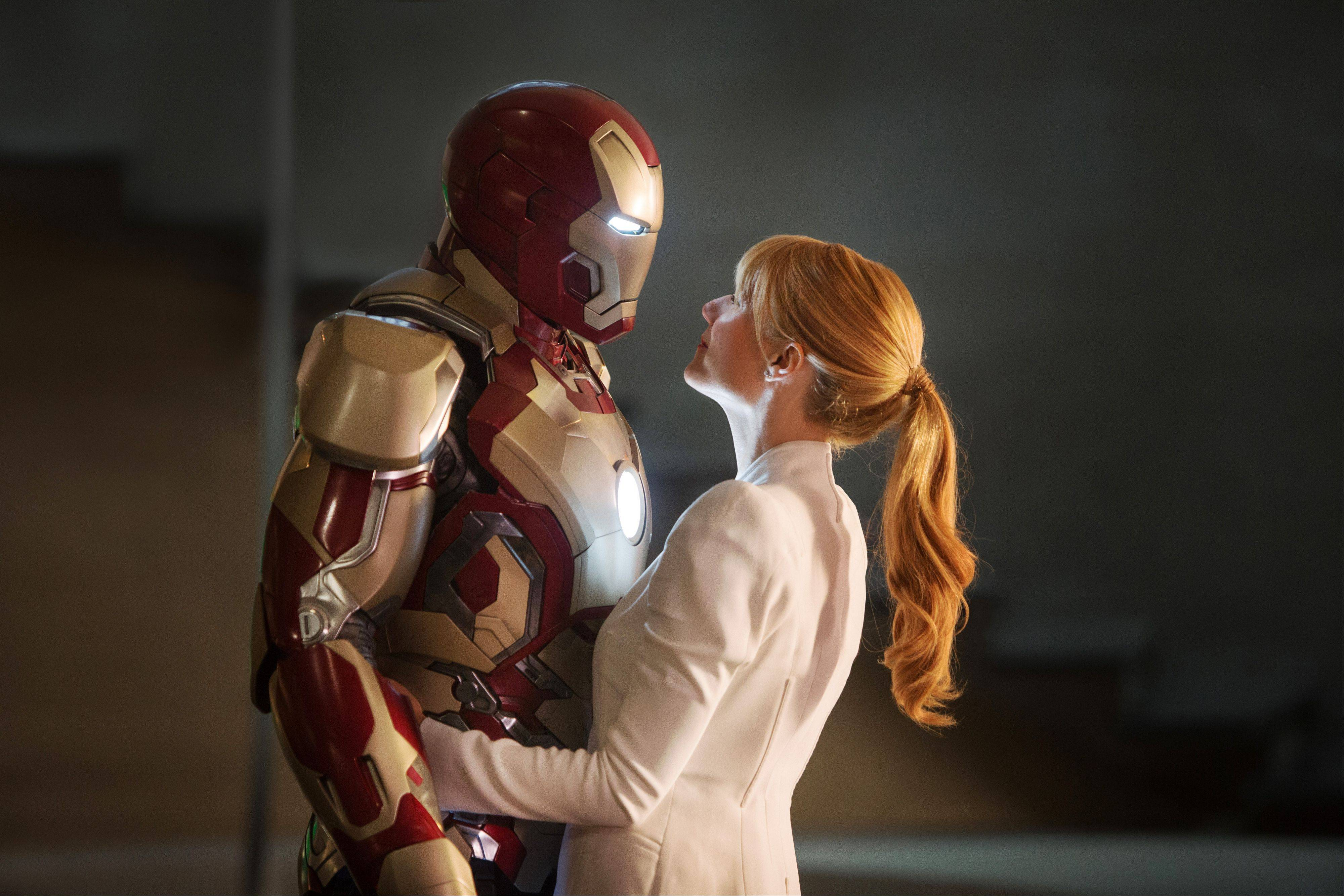 "Pepper Potts (Gwyneth Paltrow) tests Tony Stark's mettle in the amazing ""Iron Man 3."""