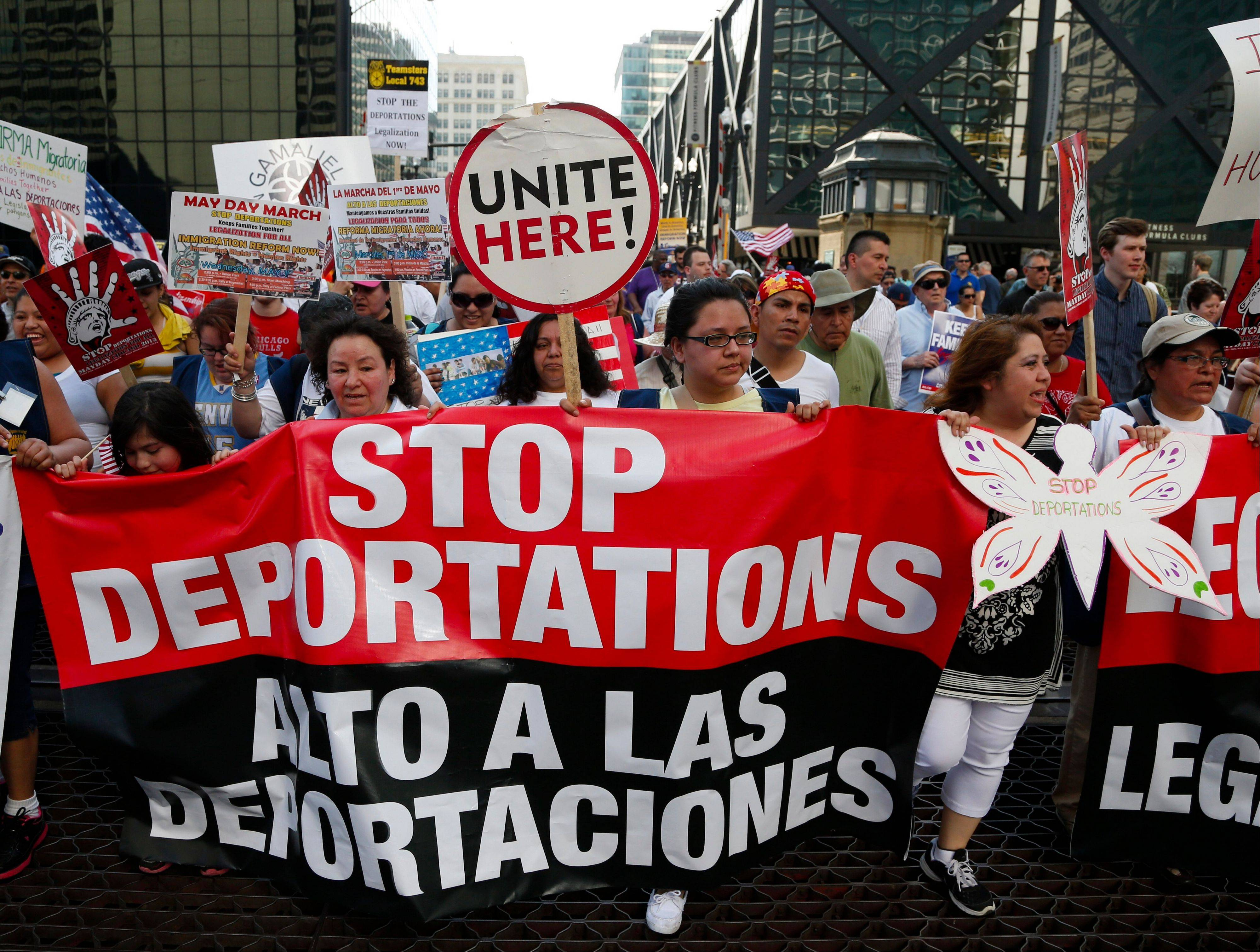 Thousands of people marched for immigration reform Wednesday in Chicago.