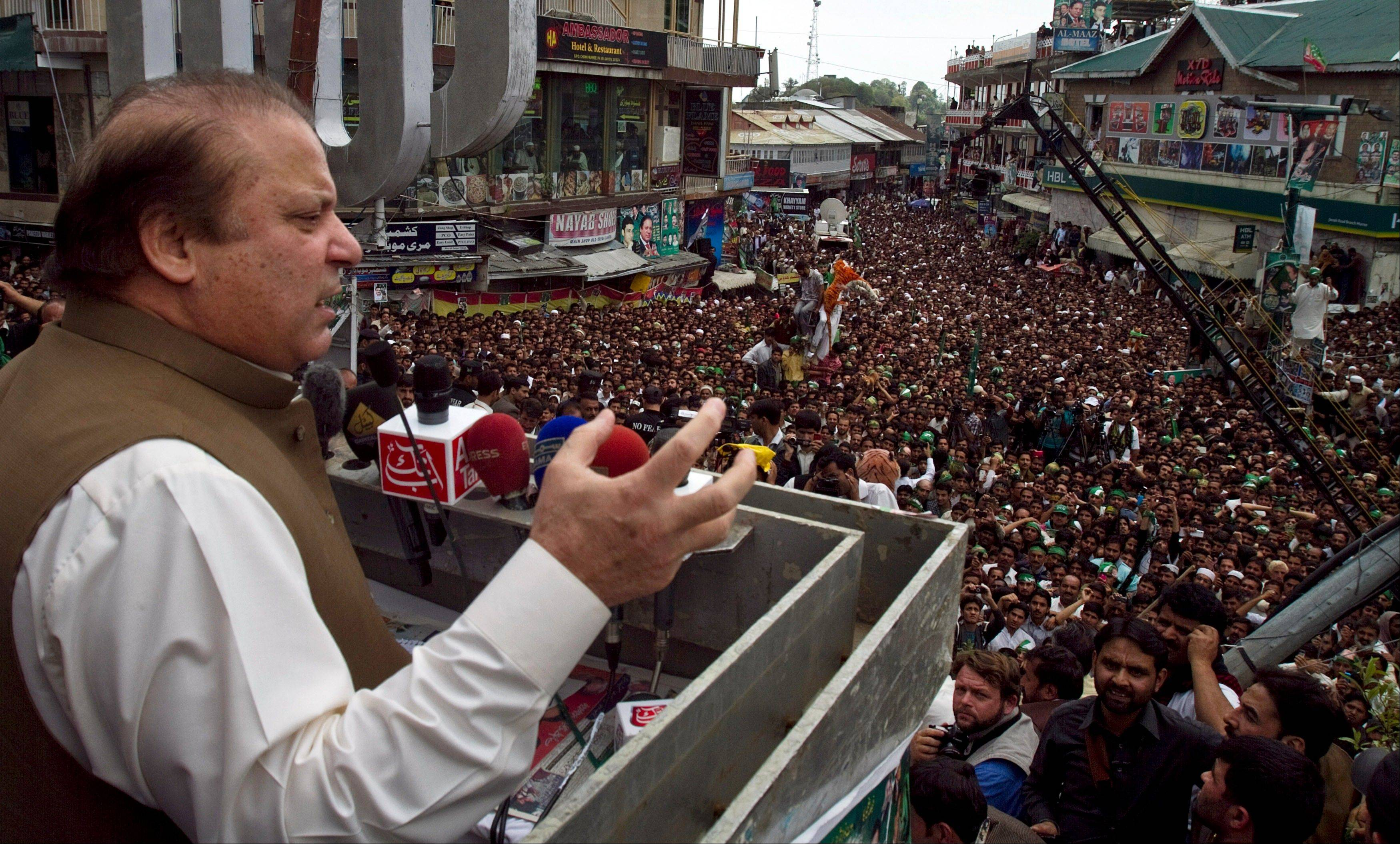 Pakistan's former Prime Minister and leader of the Pakistan Muslim League Nawaz Sharif has criticized the outgoing Pakistan People's Party for selling out the country's sovereignty in exchange for U.S. aid and likes to recount how he tested Pakistan's first nuclear weapon in 1998 despite American pressure.